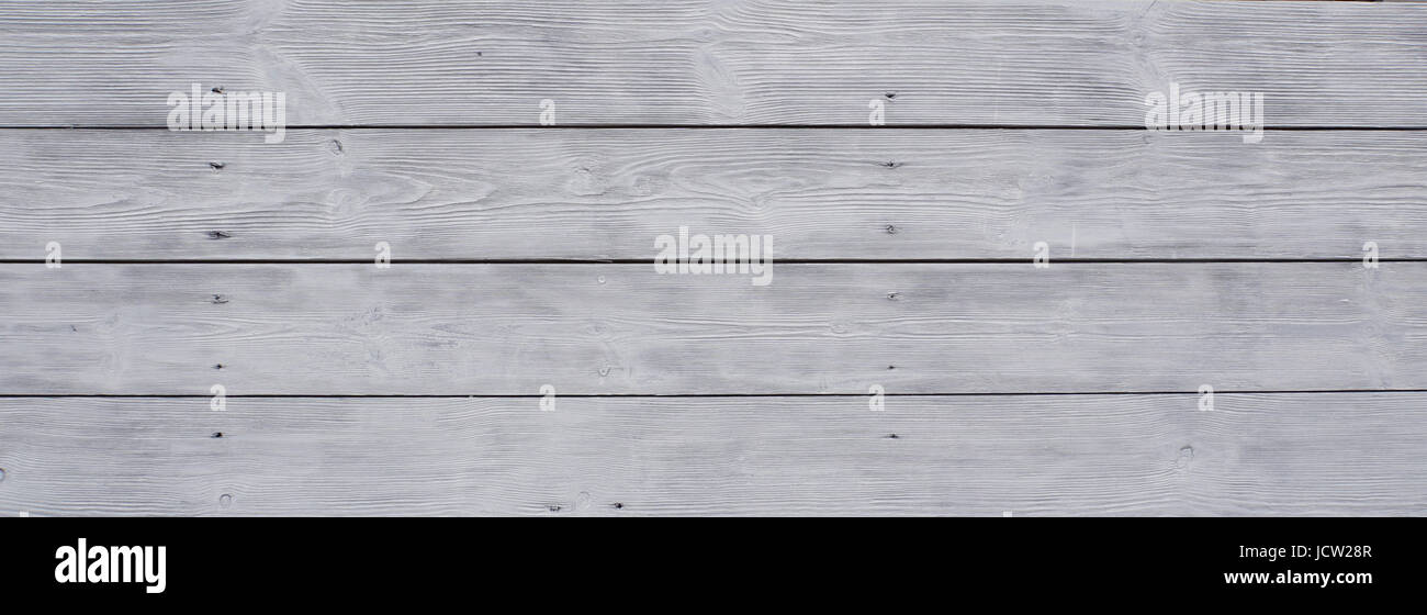 White wooden planks. Background and textures photography. - Stock Image
