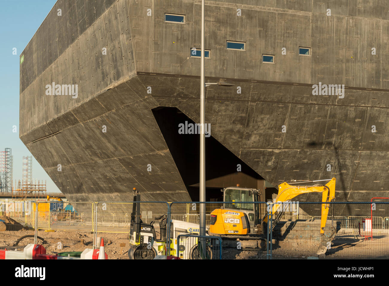 V&A Design museum under construction, Dundee waterfront, Dundee, Scotland, UK - Stock Image
