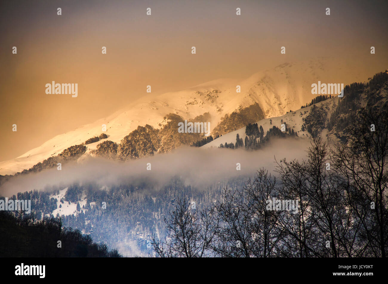 sunrise in the Himalayas - Stock Image