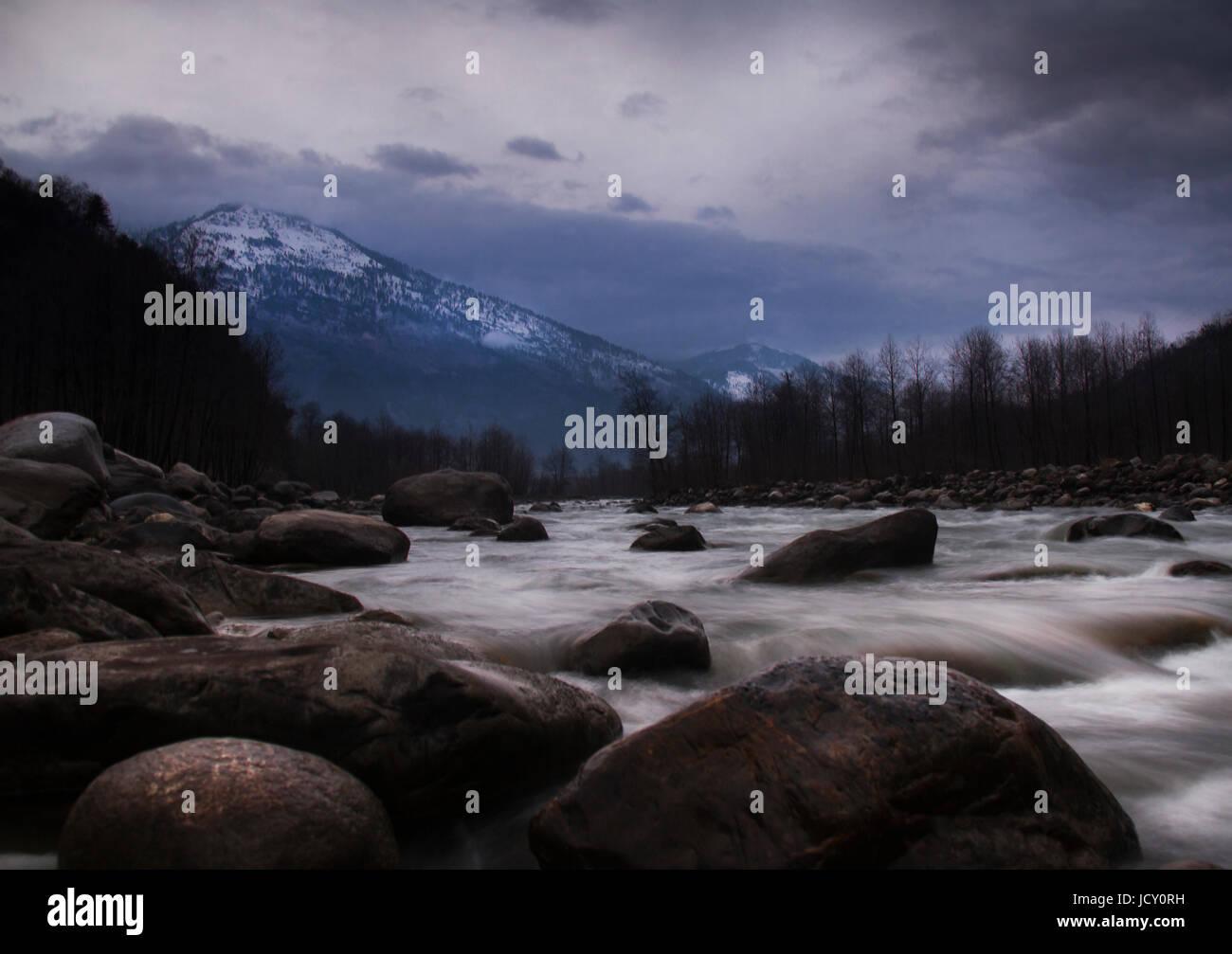 Himalayan river - Stock Image