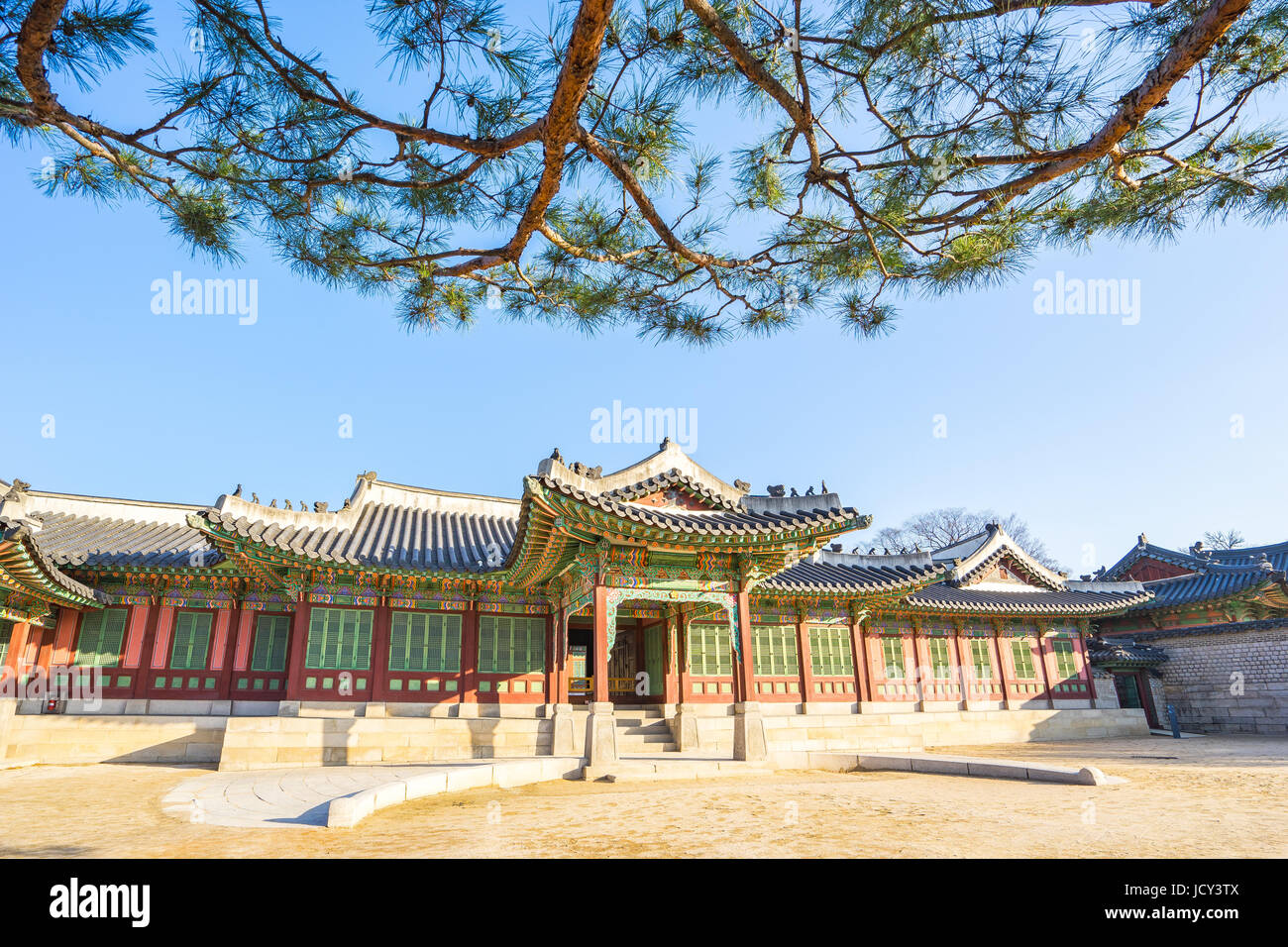 Changdeokgung Palace in Seoul, South Korea. - Stock Image