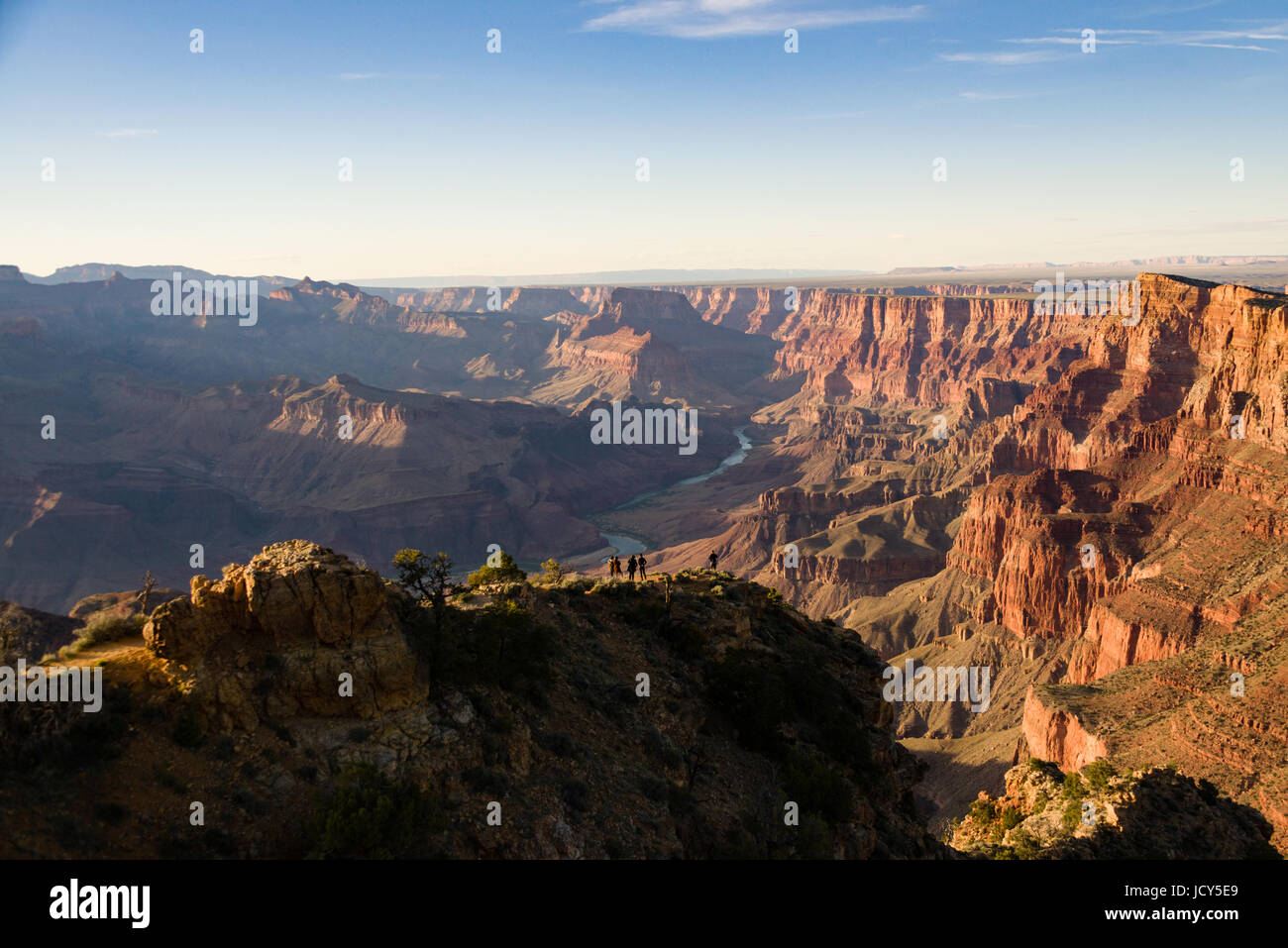 Colorado River from South Rim, Grand Canyon Stock Photo