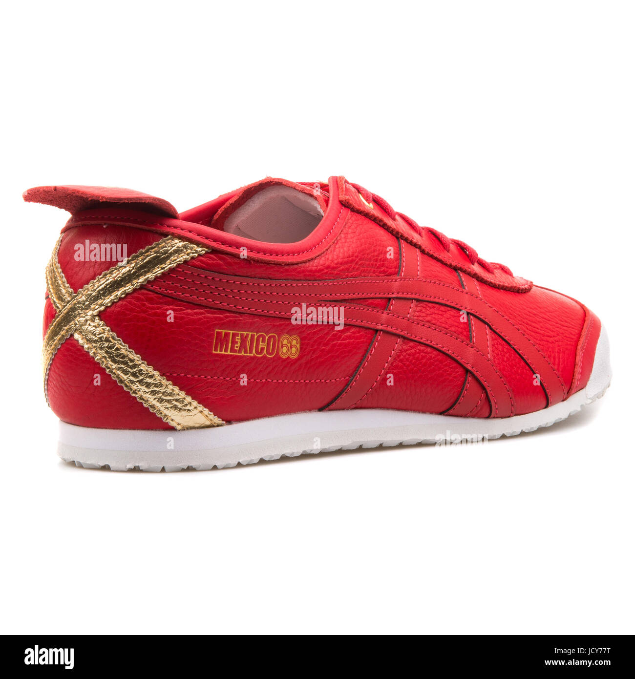 pretty nice 9ec98 e8dbb Onitsuka Tiger Mexico 66 Red Leather Unisex Sports Shoes ...