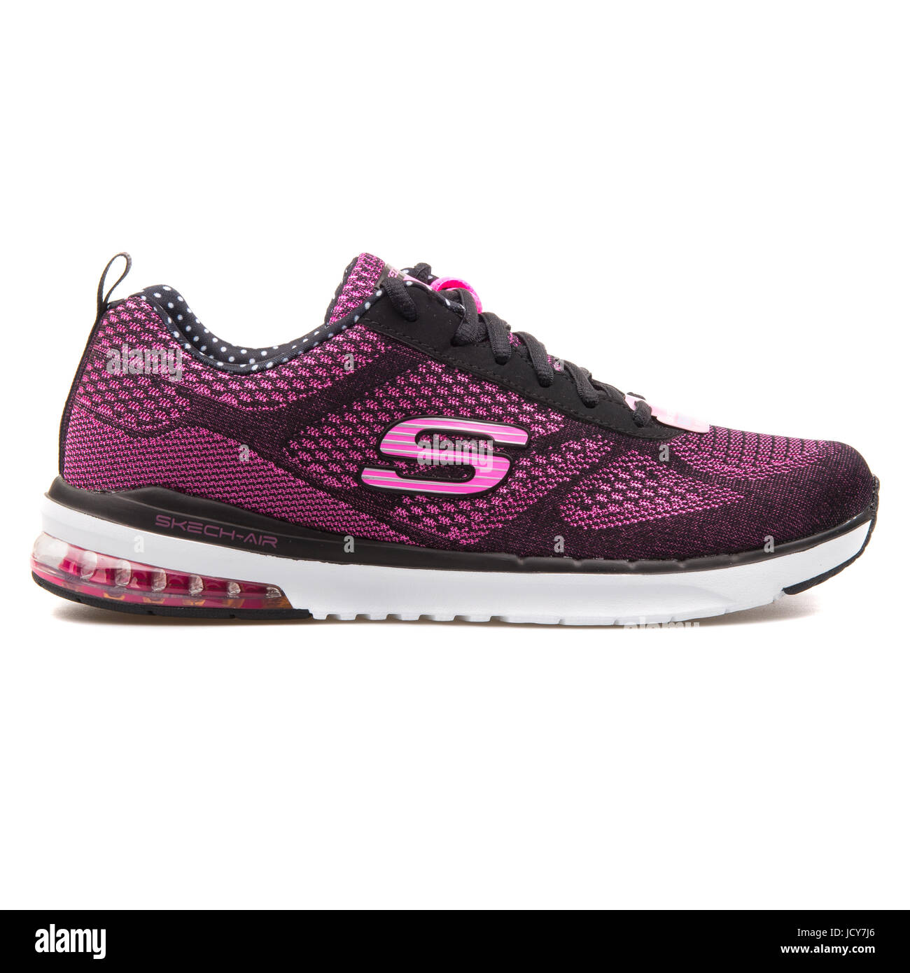 29c5f4db216 Skechers Skech-Air Infinity Black and Hot Pink Women's Running Shoes -  12111-BKHP