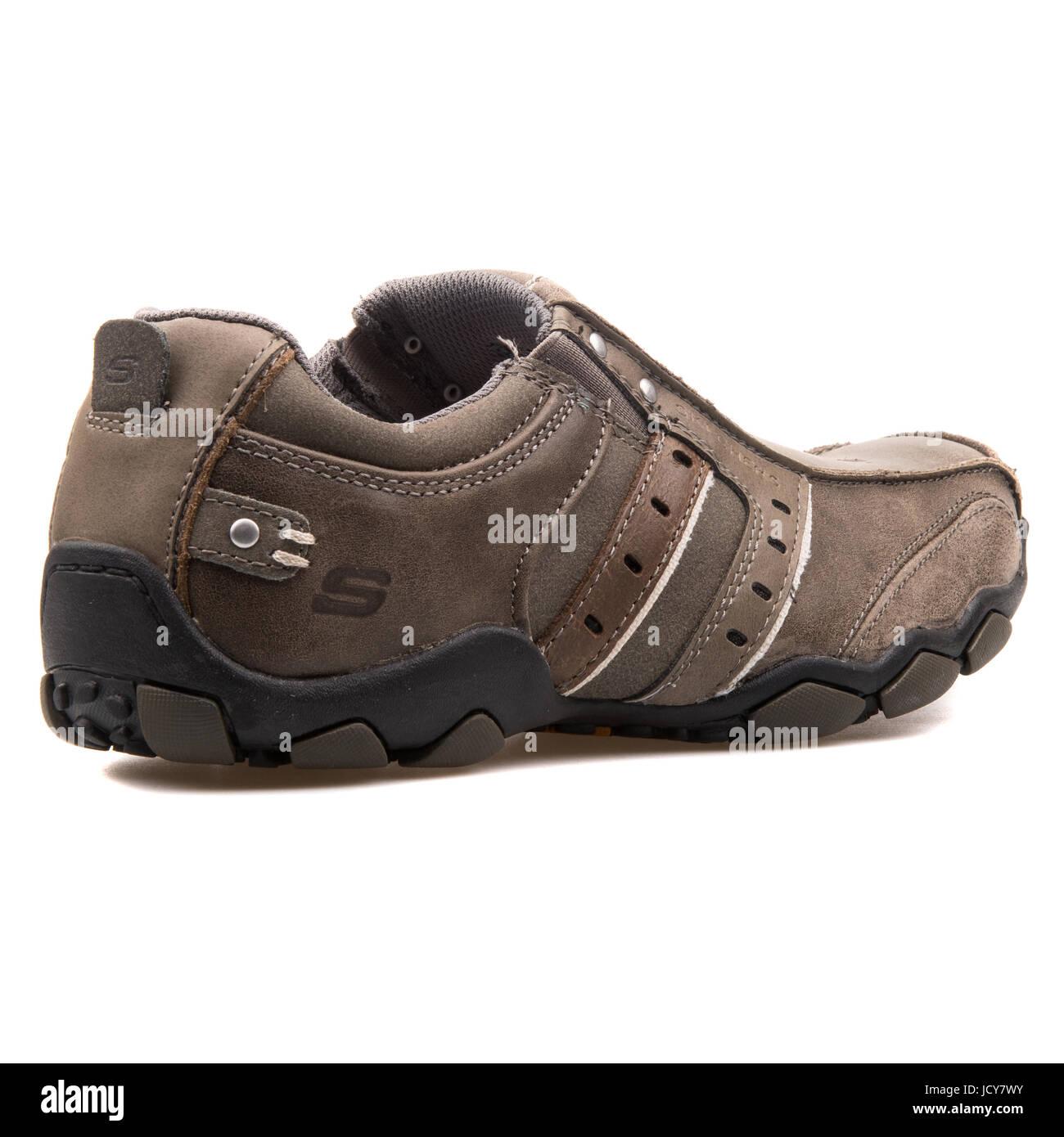 533e3f59b33b Skechers Diameter Charcoal Men s Leather Sports Shoes - 61779-CHAR ...