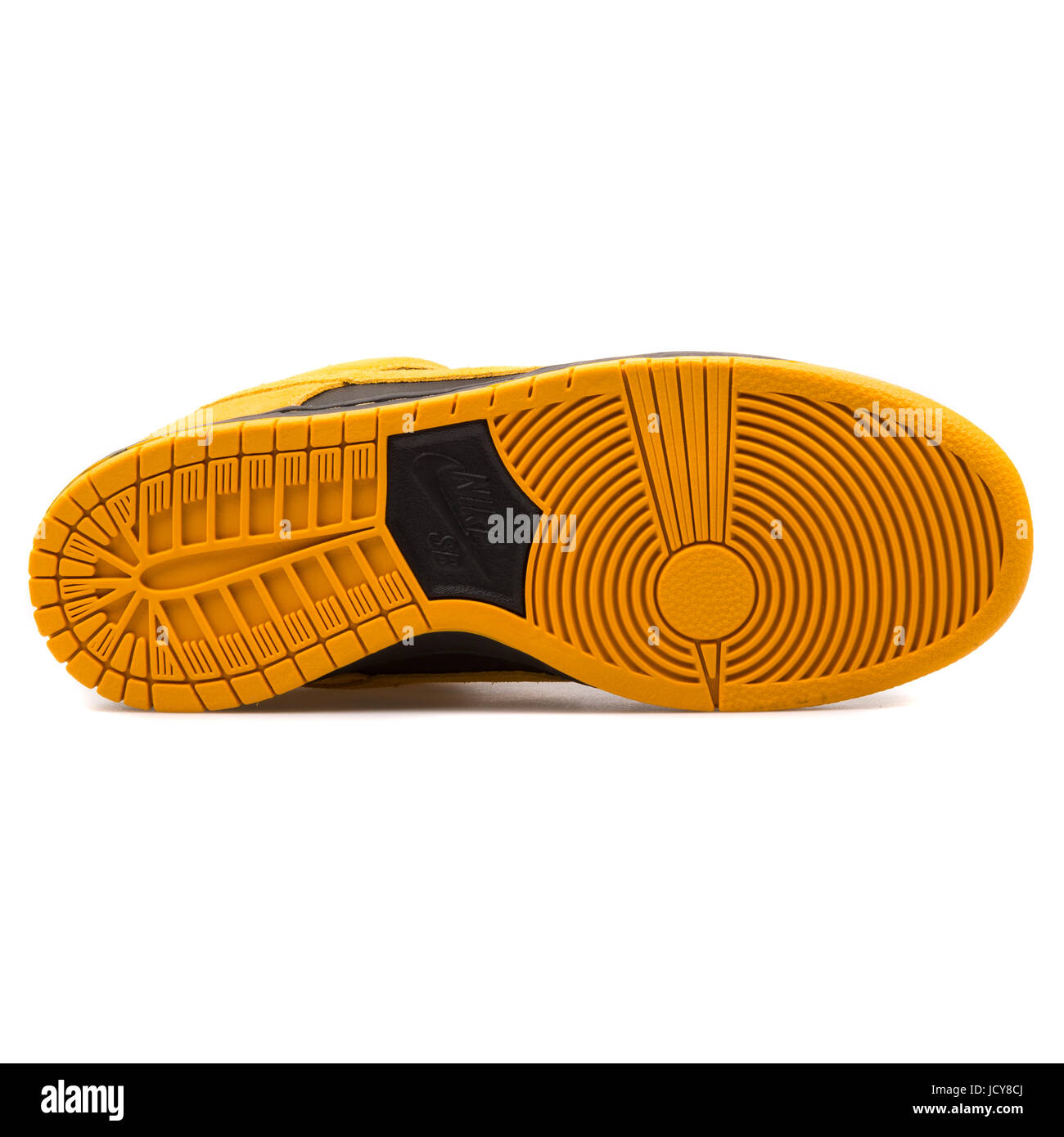Nike Dunk Low Pro SB Gold Yellow and Black Men's Skateboarding Shoes - 304292-706 - Stock Image