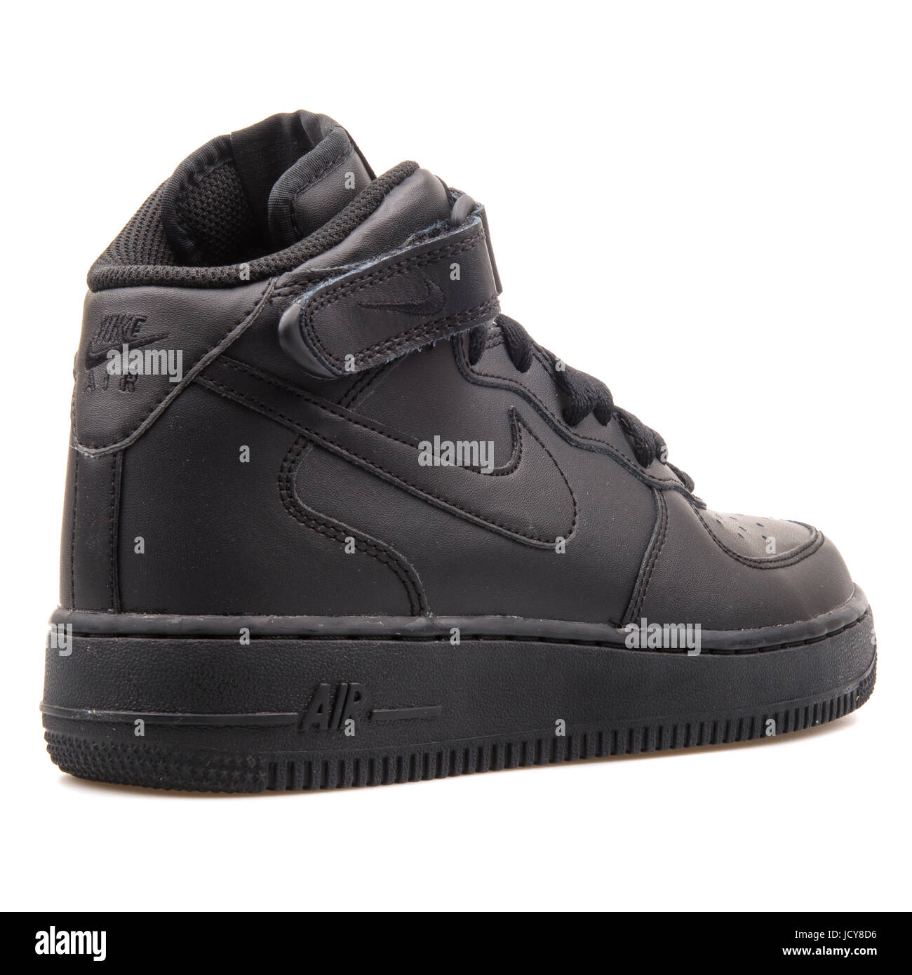 617cbc6e Nike Air Force 1 Mid (GS) Black Youth's Sports Shoes - 314195-004 ...