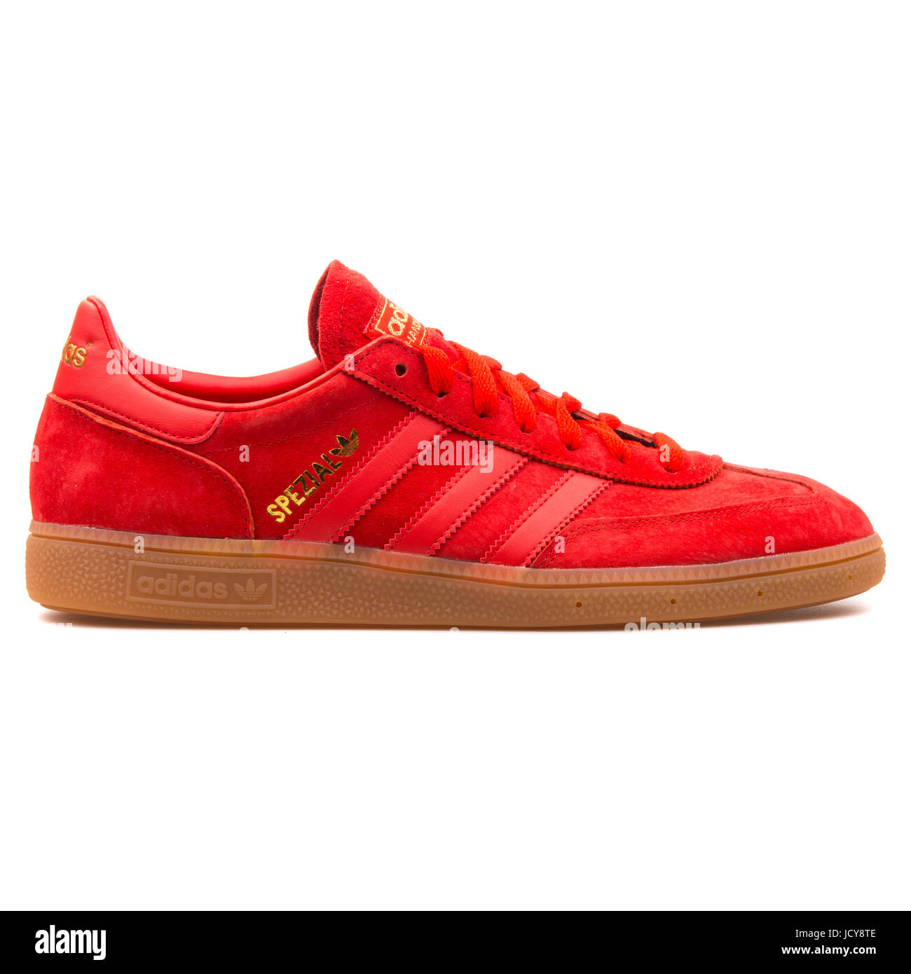5762b671b Adidas Spezial Red Men s Sports Shoes - B35209 - Stock Image