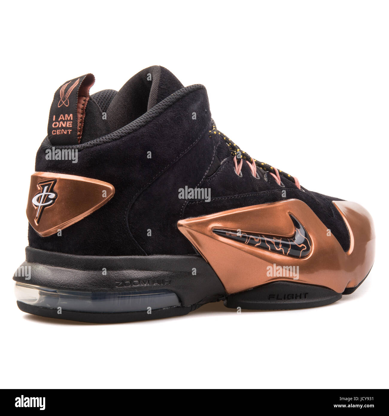 new styles d19f6 55f72 Nike Zoom Penny VI Black and Metallic Copper Men s Basketball Shoes - 749629 -001