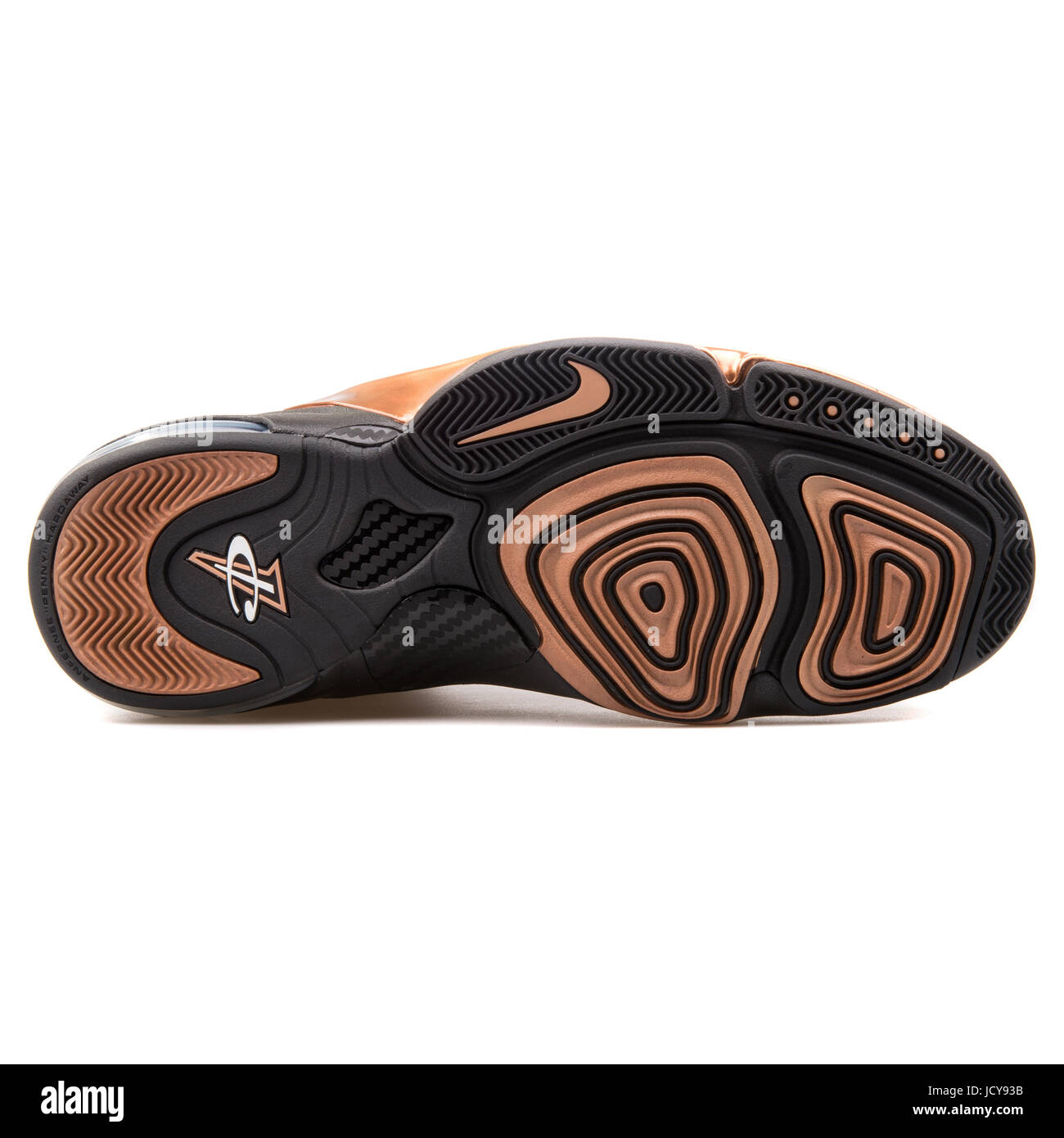 3625b2922a3d Nike Zoom Penny VI Black and Metallic Copper Men s Basketball Shoes -  749629-001 -