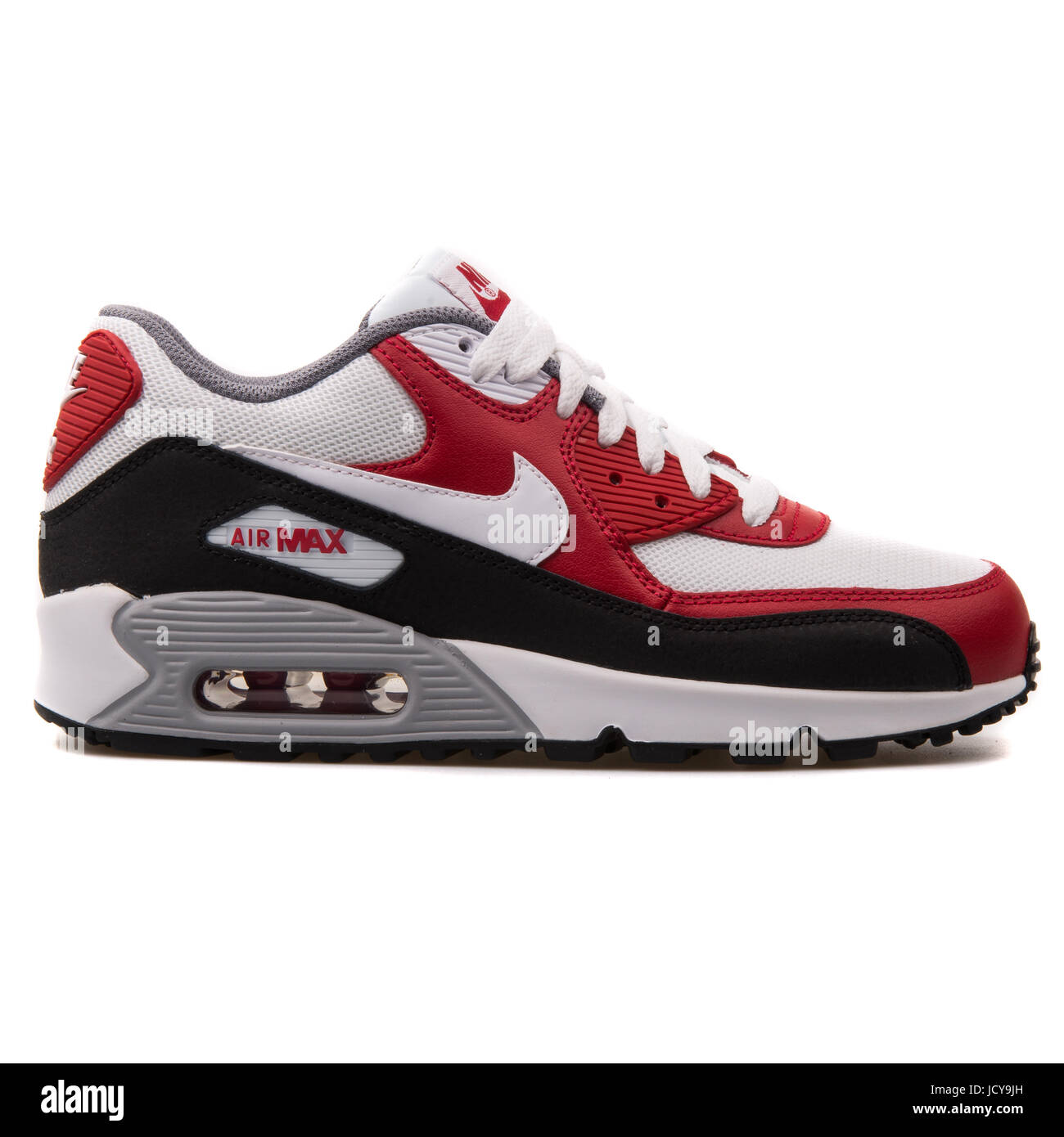 Nike Air Max 90 Mesh (GS) White, Red and Black Youth's Running ...