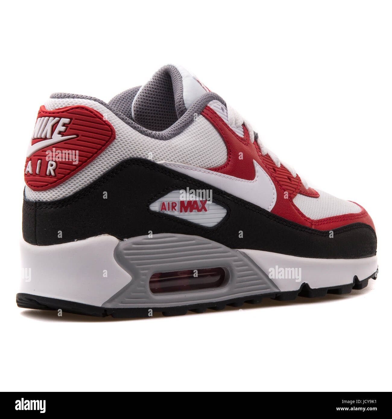 af3402a0 Nike Air Max 90 Mesh (GS) White, Red and Black Youth's Running Shoes -  724824-102