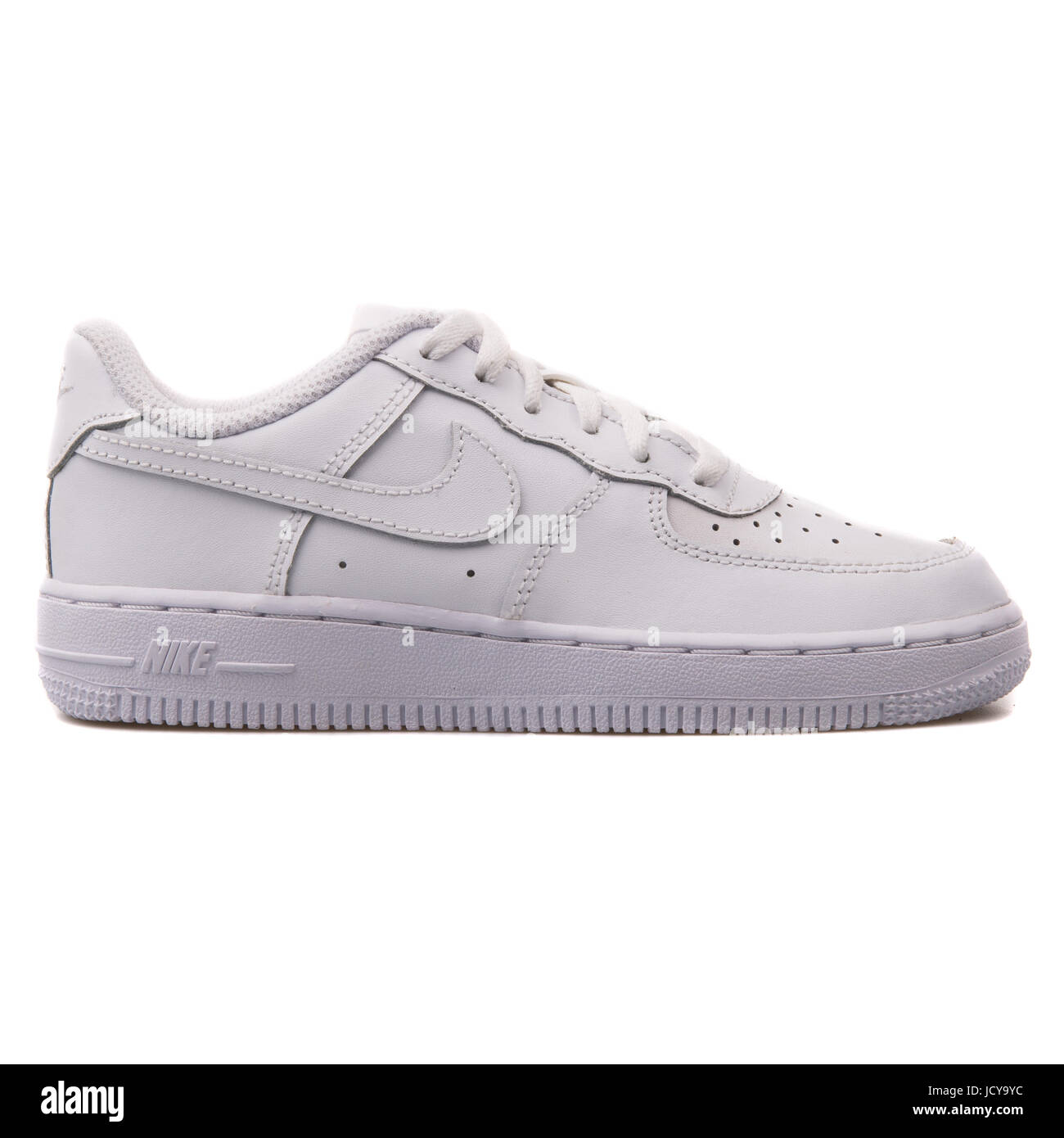 c49f7ebba20b Nike Force 1 (PS) White Youth s Sports Shoes - 314193-117 - Stock