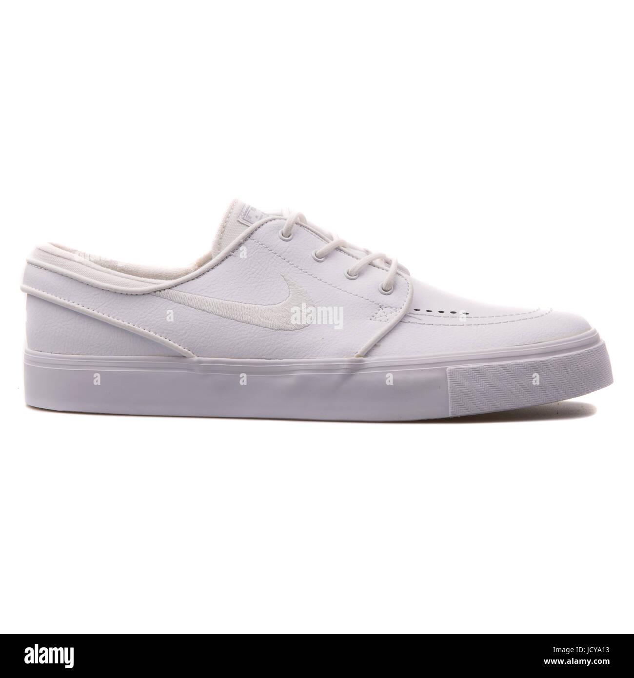 d45e045a24 Nike Zoom Stefan Janoski L White Leather Men's Skateboarding Shoes -  616490-110 - Stock