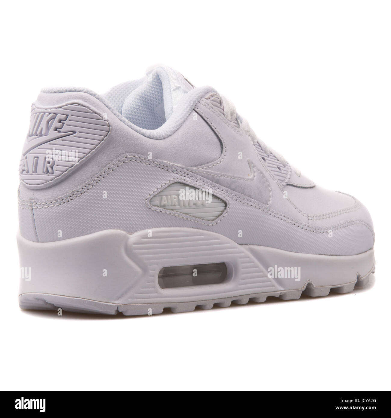 premium selection 24c57 3f63a Nike Air Max 90 LTR (GS) White Youth s Running Shoes - 724821-100