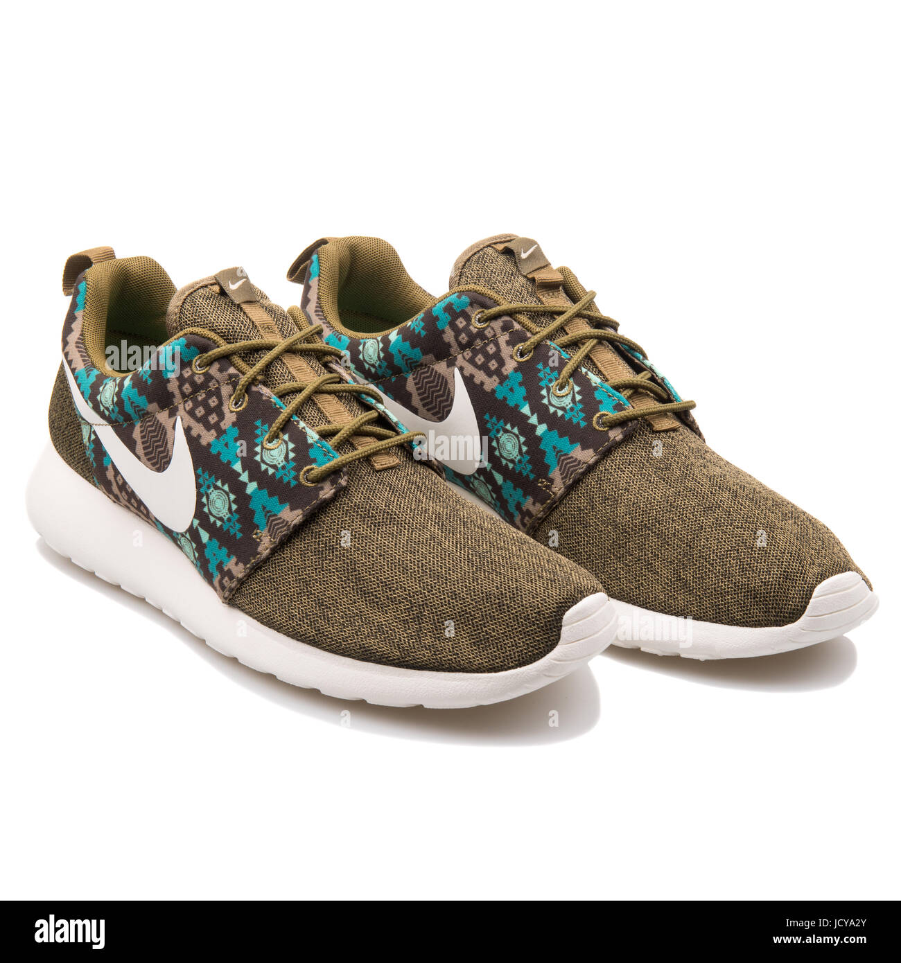 1ec3a2f2696f Nike Roshe One Print Dark Bamboo Men s Sports Shoes - 655206-213 - Stock  Image