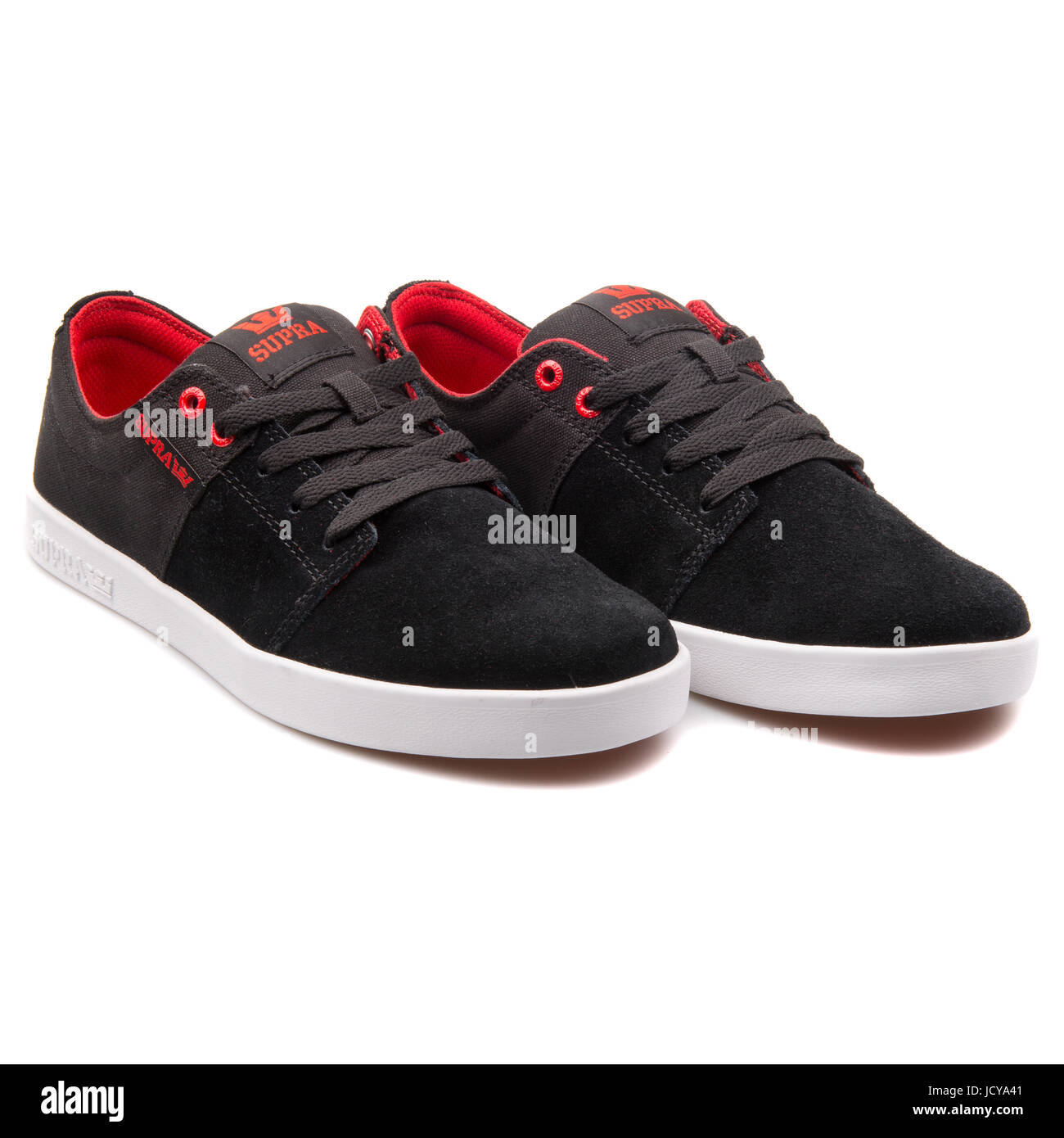 e094084572 Supra Stacks II Black, Red and White Men's Shoes - S45148 Stock ...