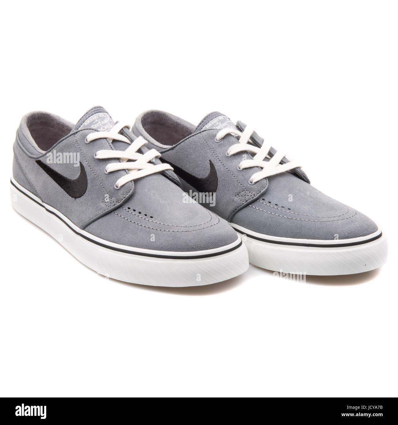 meet 8c178 d5370 Nike Zoom Stefan Janoski Cool Grey and White Men s Skateboarding Shoes -  333824-045 -