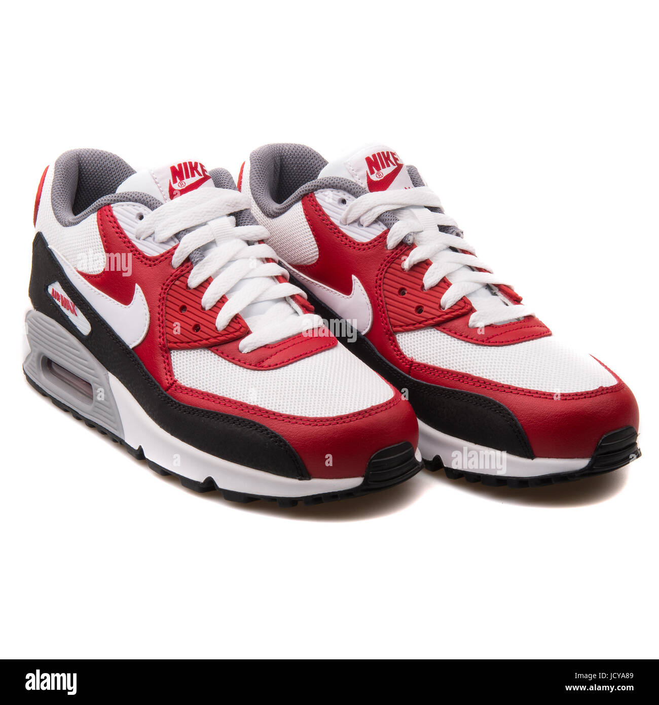 Nike Air Max 90 Mesh GS shoes white red grey