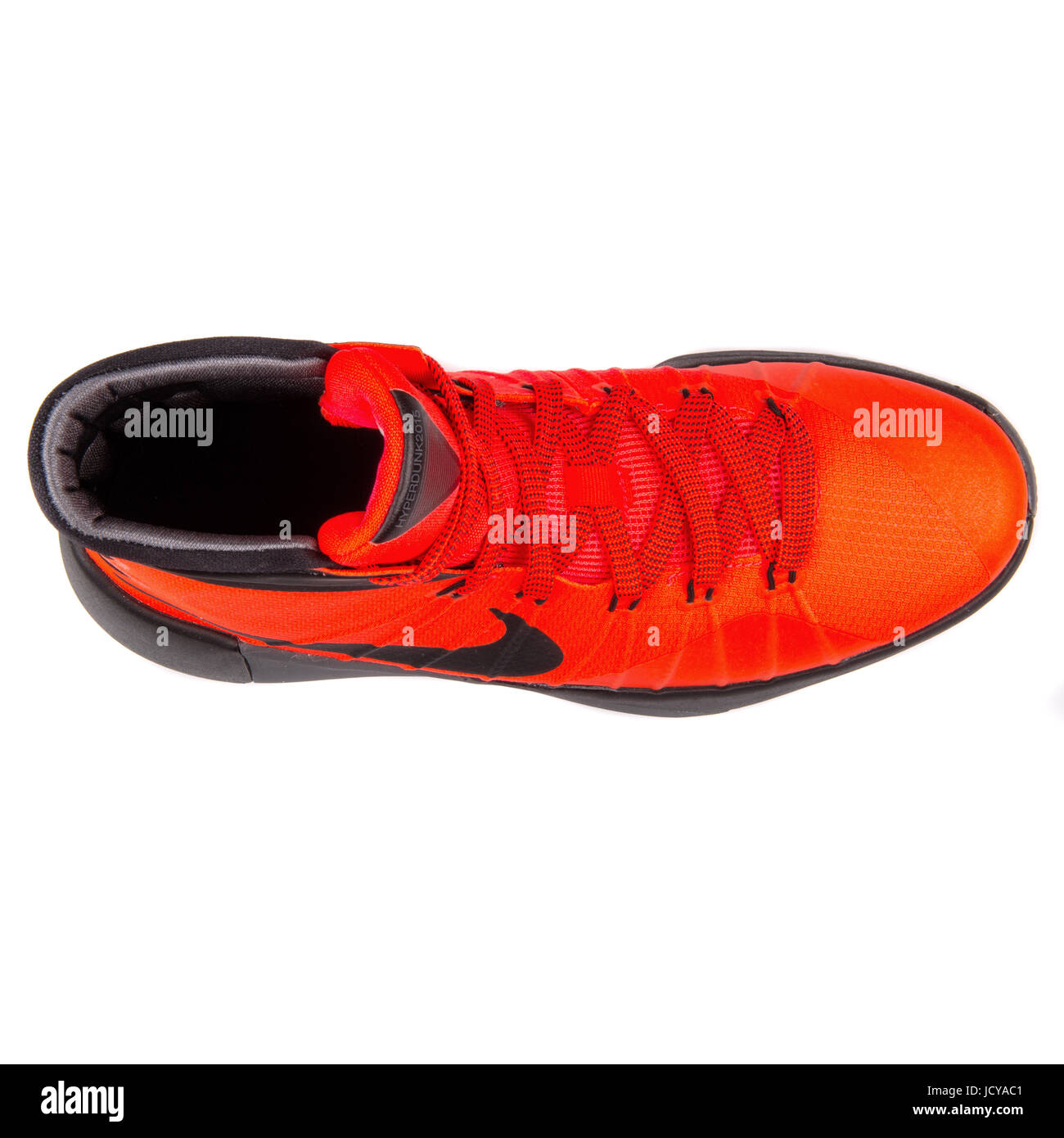 info for d9b2a 0e6bd Nike Hyperdunk 2015 (GS) Bright Crimson, Black and Grey Youth s Basketball  Shoes - 759974-600
