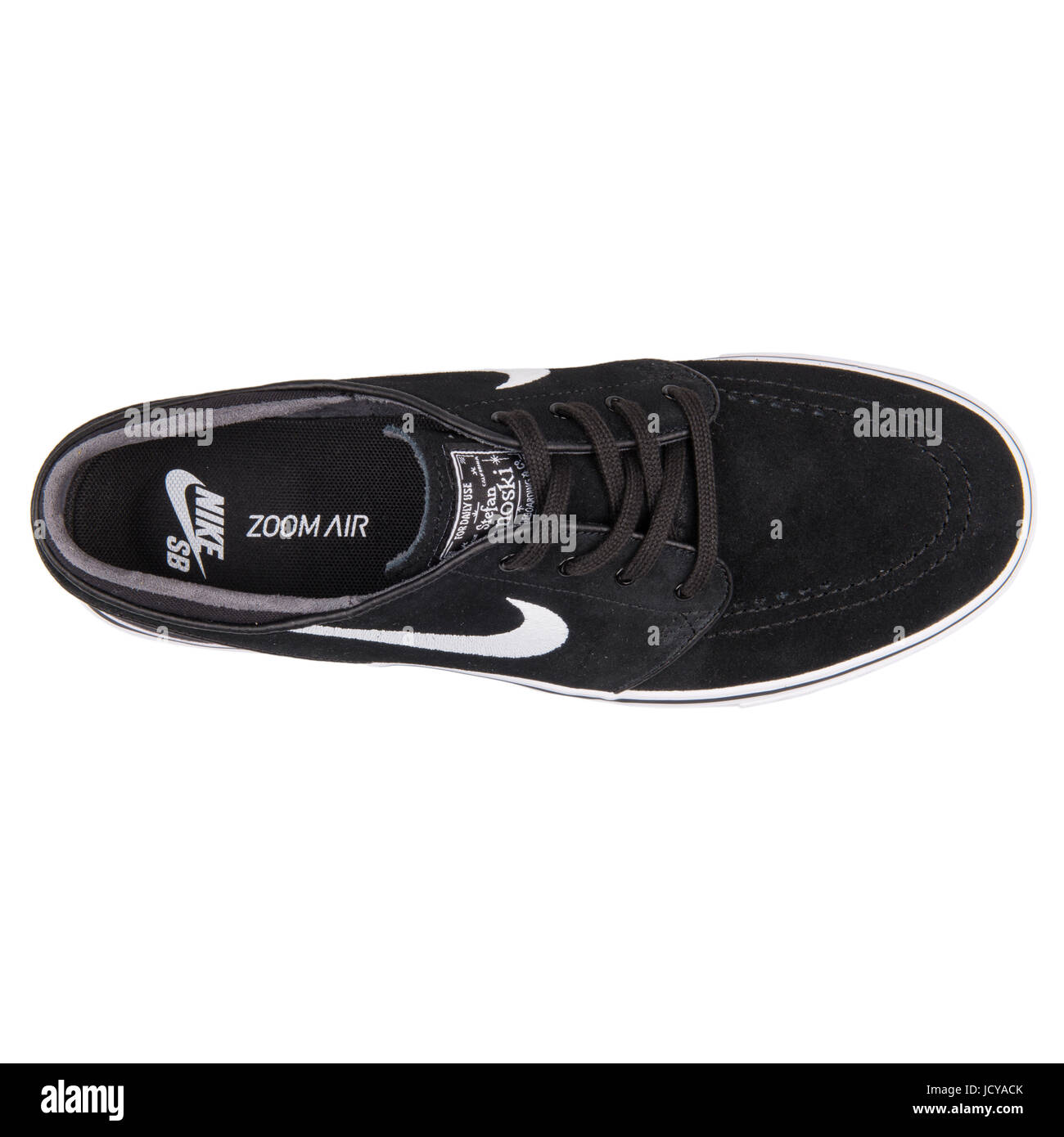 separation shoes 49c36 b4cb9 Nike Zoom Stefan Janoski Black and White Men s Skateboarding Shoes - 333824- 026