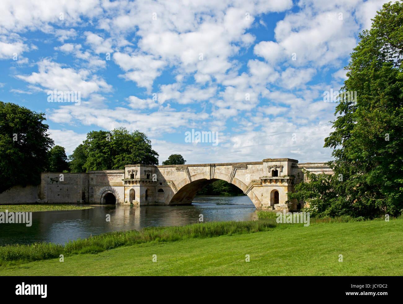 Parkland at Blenheim Palace, Woodstock, Oxfordshire, England UK - Stock Image