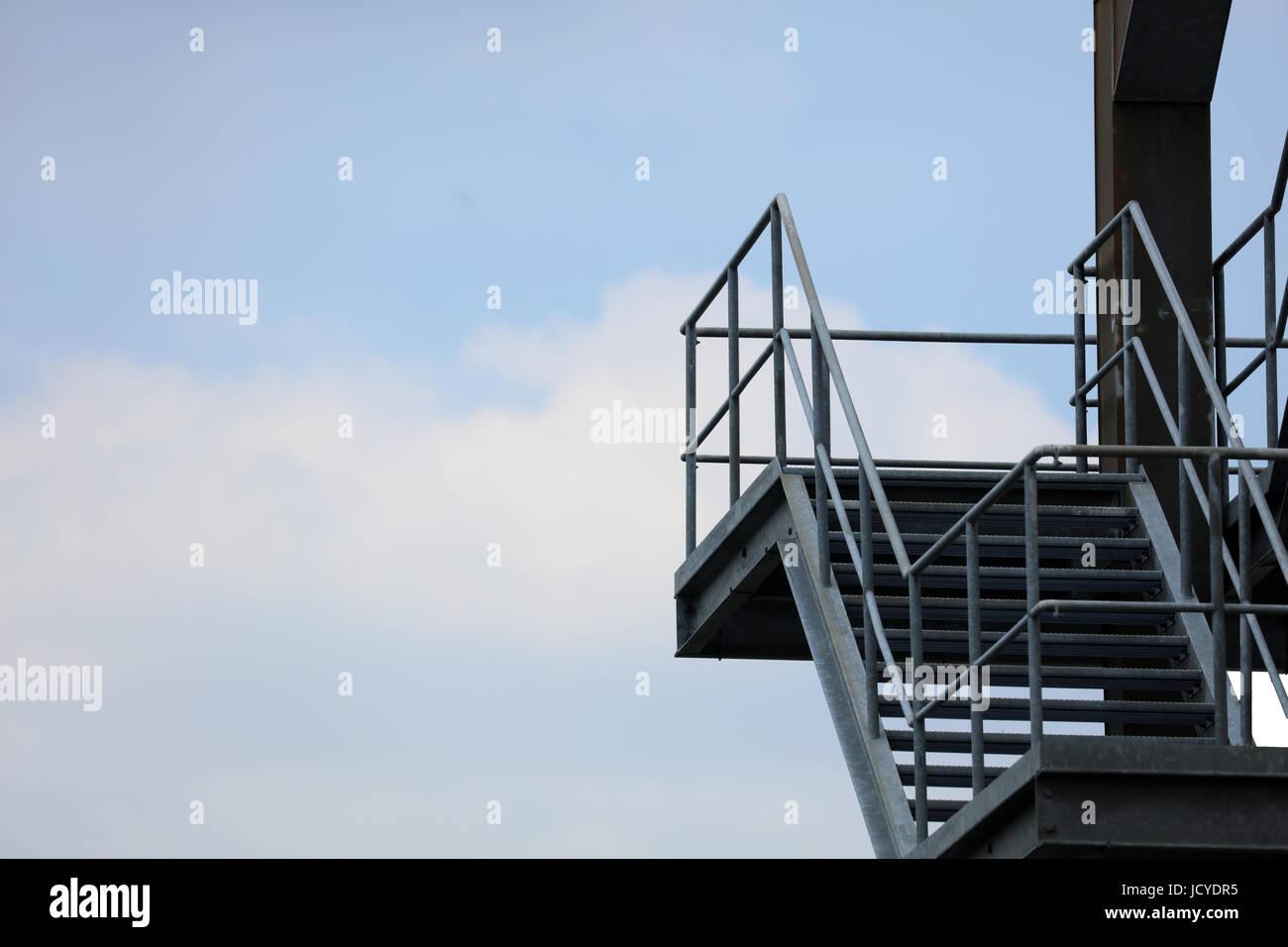 Fluchttreppe Fluchtweg - Stock Image