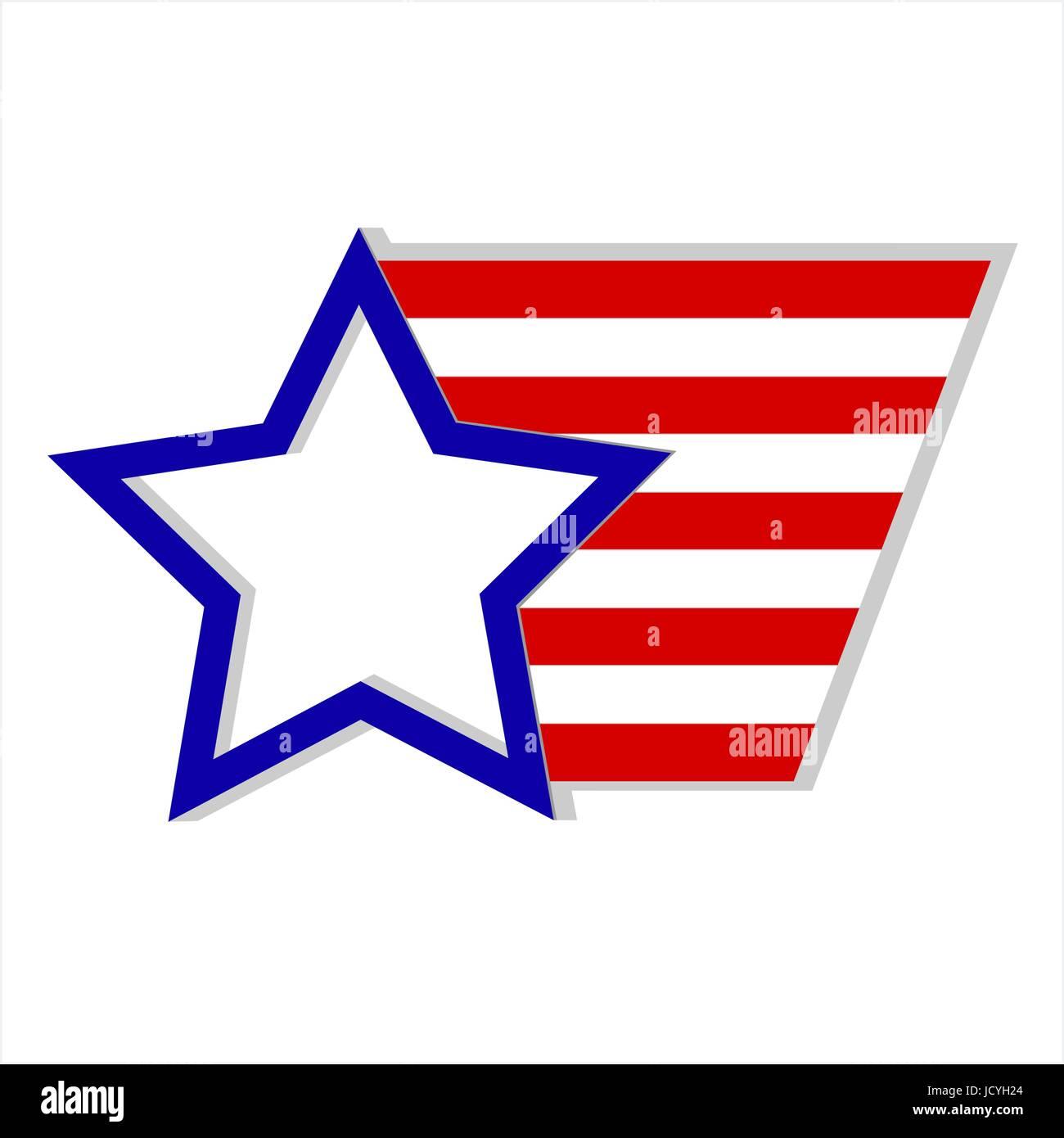 United States of America flag logo symbol emblem Stock Vector
