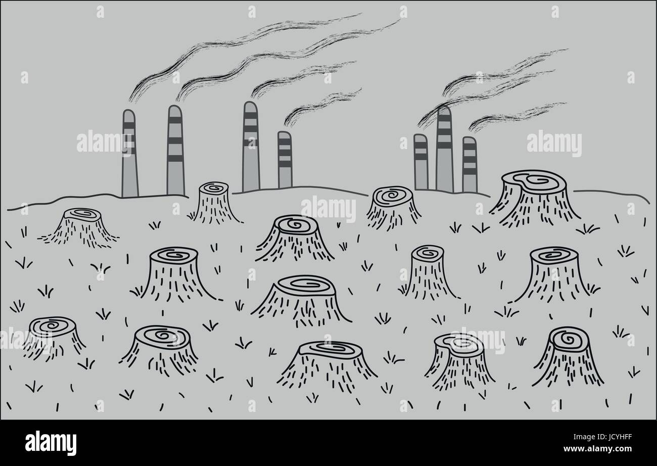 Deforestation and environmental pollution environmental disaster