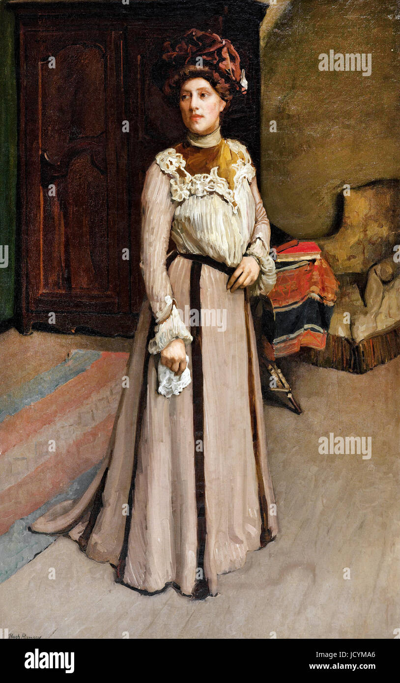 Hugh Ramsay, A Lady of Cleveland, U.S.A. 1902 Oil on canvas. Art Gallery of South Australia, Australia. - Stock Image