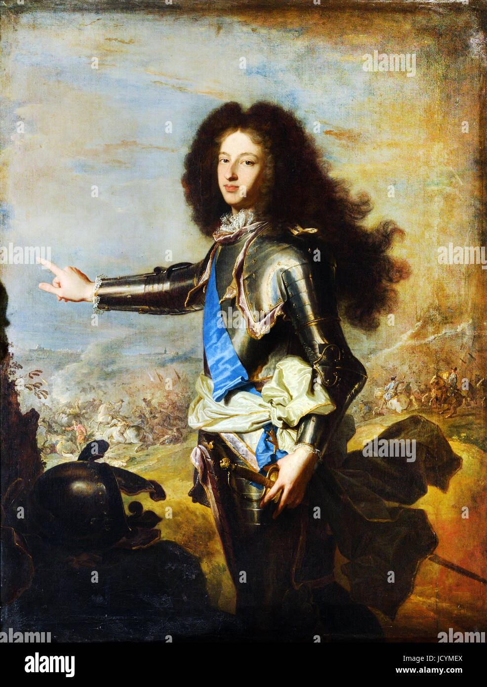 Hyacinthe Rigaud, Louis de France, Duke of Burgundy (1682-1712). Circa 1704. Oil on canvas. Palace of Versailles, - Stock Image