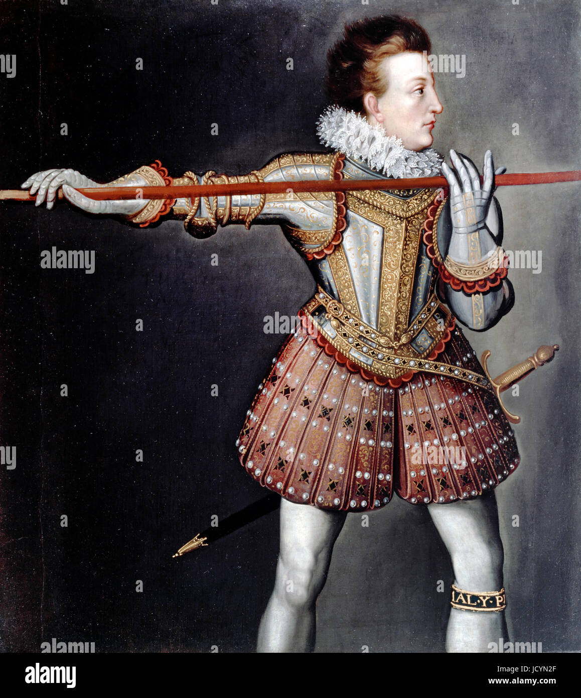 Isaac Oliver, Henry, Prince of Wales. Circa 1612-1626. Oil on canvas. Dulwich Picture Gallery, London, England. - Stock Image