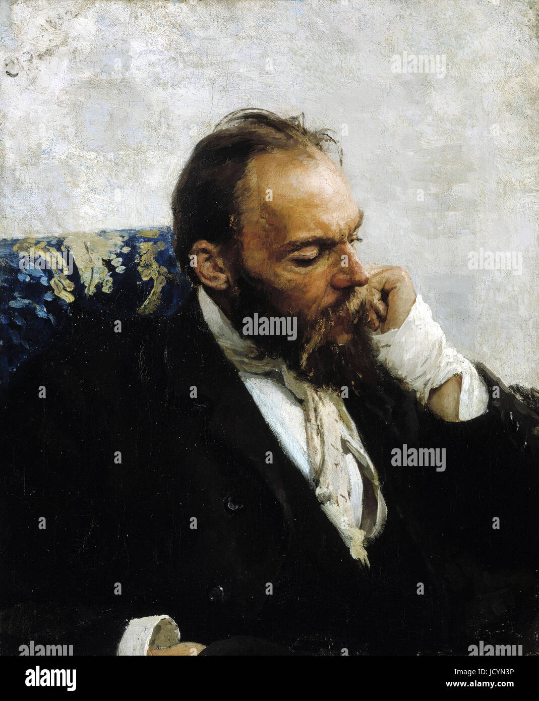 Ilya Repin, Portrait of Professor Ivanov 1882 Oil on canvas. Ateneum, Helsinki, Finland. - Stock Image