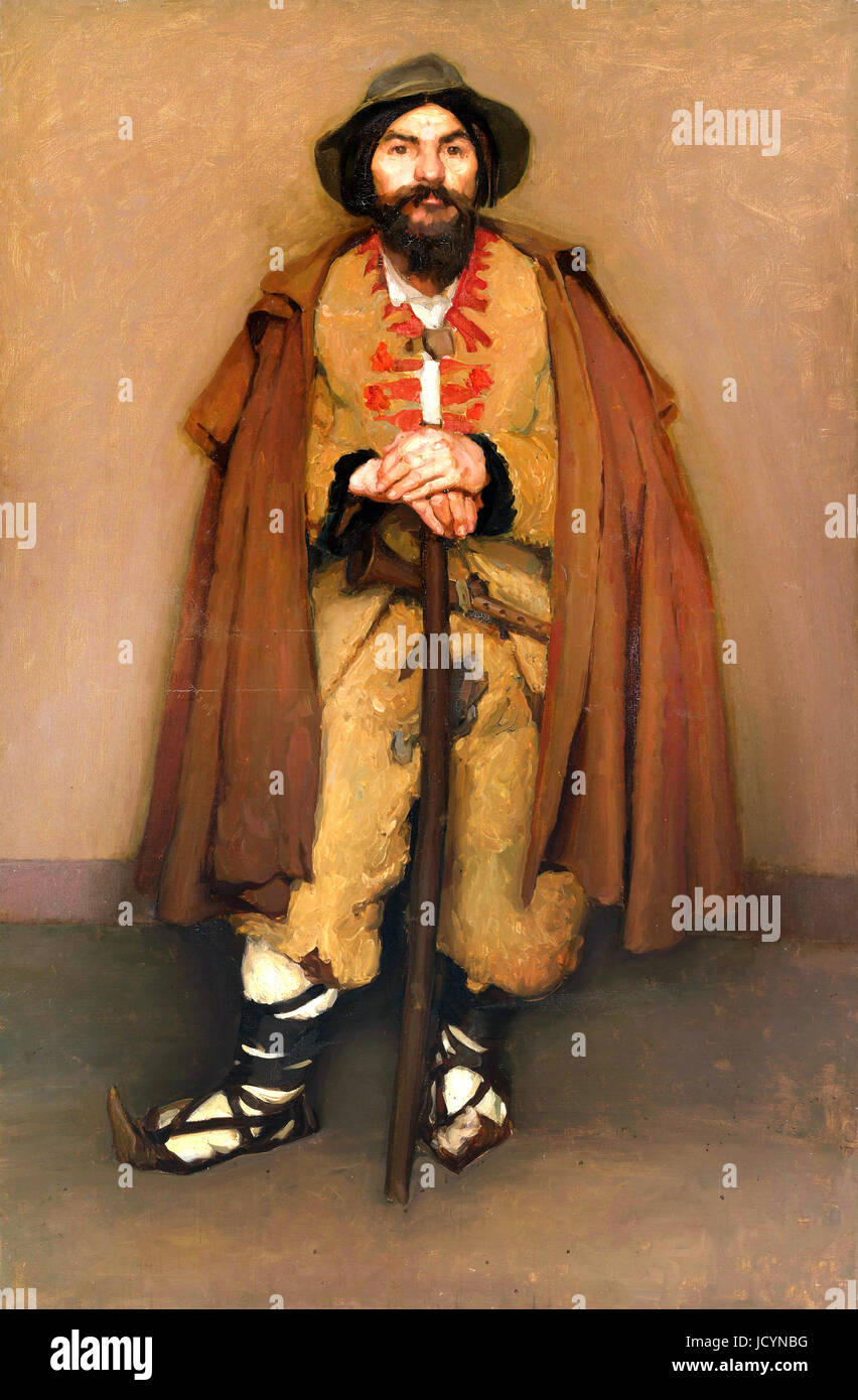 Hugh Ramsay, A Mountain Shepherd (An Italian Dwarf) 1901 Oil on canvas. National Gallery of Australia, Canberra, - Stock Image