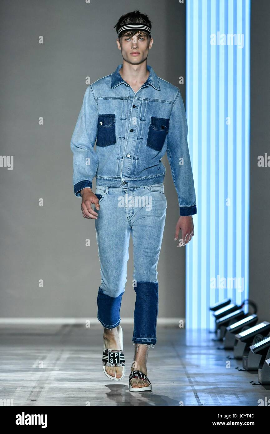 3dd416f43a9 Milan Men s Fashion Week Spring Summer 2018. Milan Fashion Man Stock ...