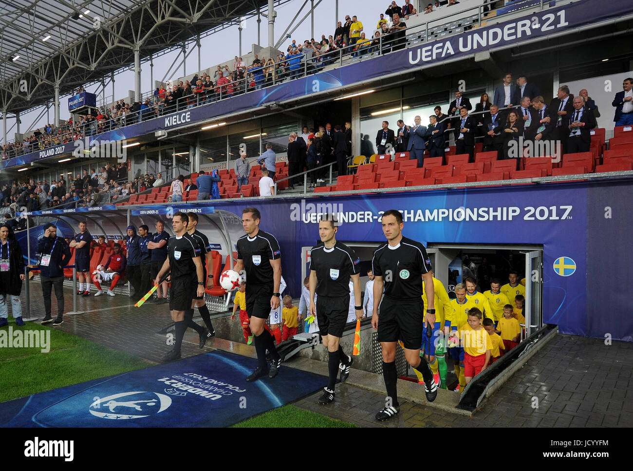Refere during the UEFA European Under-21 match between Sweden and England at Kolporter Arena on June 16, 2017 in - Stock Image