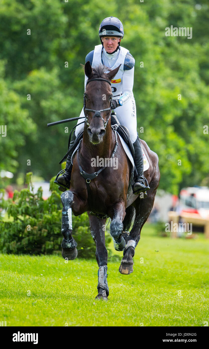 Luhmuehlen, Germany. 17th June, 2017. British eventing rider Nicola Wilson on her horse Bulana in Luhmuehlen, Germany, - Stock Image