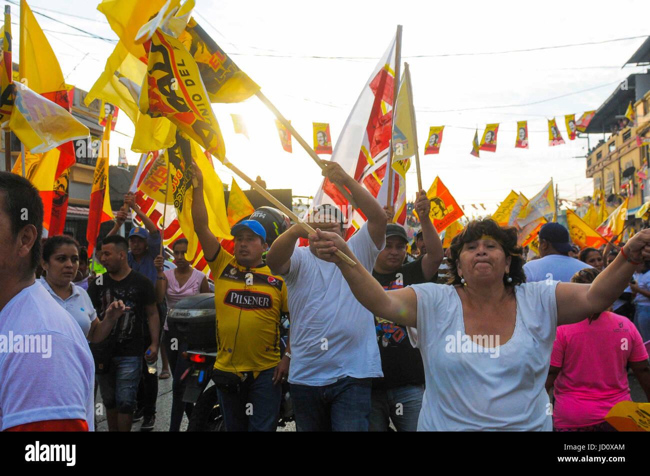 Supporters Of Former Ecuadorian President Abdala Bucaram Attend A Rally In Guayaquil Ecuador 17 June 2017 Arrived At Small Neighborhood The