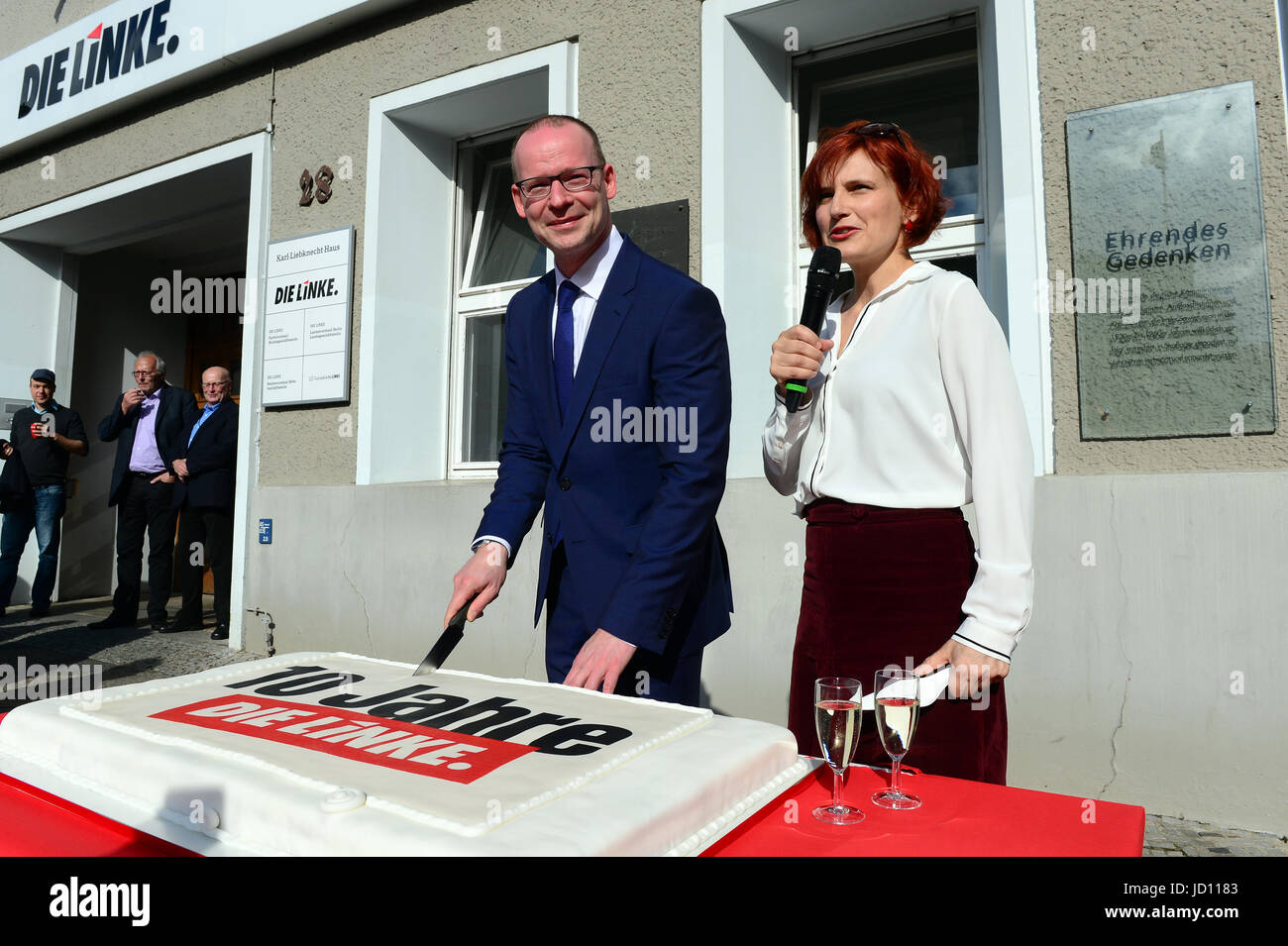 Berlin, Germany. 16th June, 2017. Matthias Hohn, Federal Secretary General of the political party 'The Left' - Stock Image