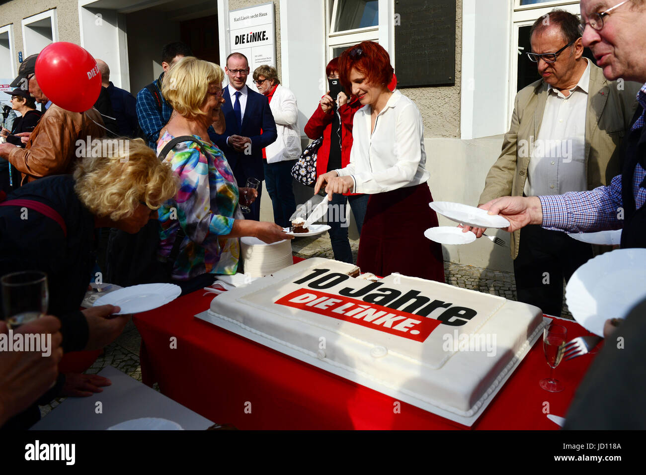Berlin, Germany. 16th June, 2017. Chairwoman Katja Kipping of the political party 'The Left' (Die Linke) - Stock Image