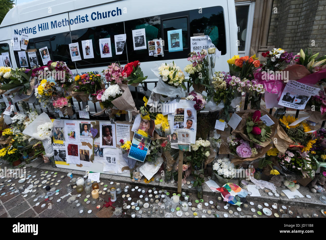 June 17, 2017 - London, UK - London, UK. 17th June 2017. Posters on lamp posts, walls and noticeboards display the - Stock Image