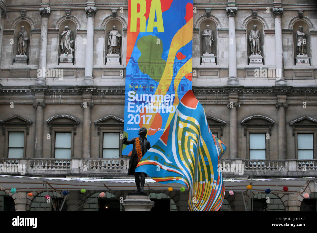 London UK 18 June 2017 The Royal Academy of arts  Summer Exhibition is open@Paul Quezada-Neiman/Alamy Live News Stock Photo