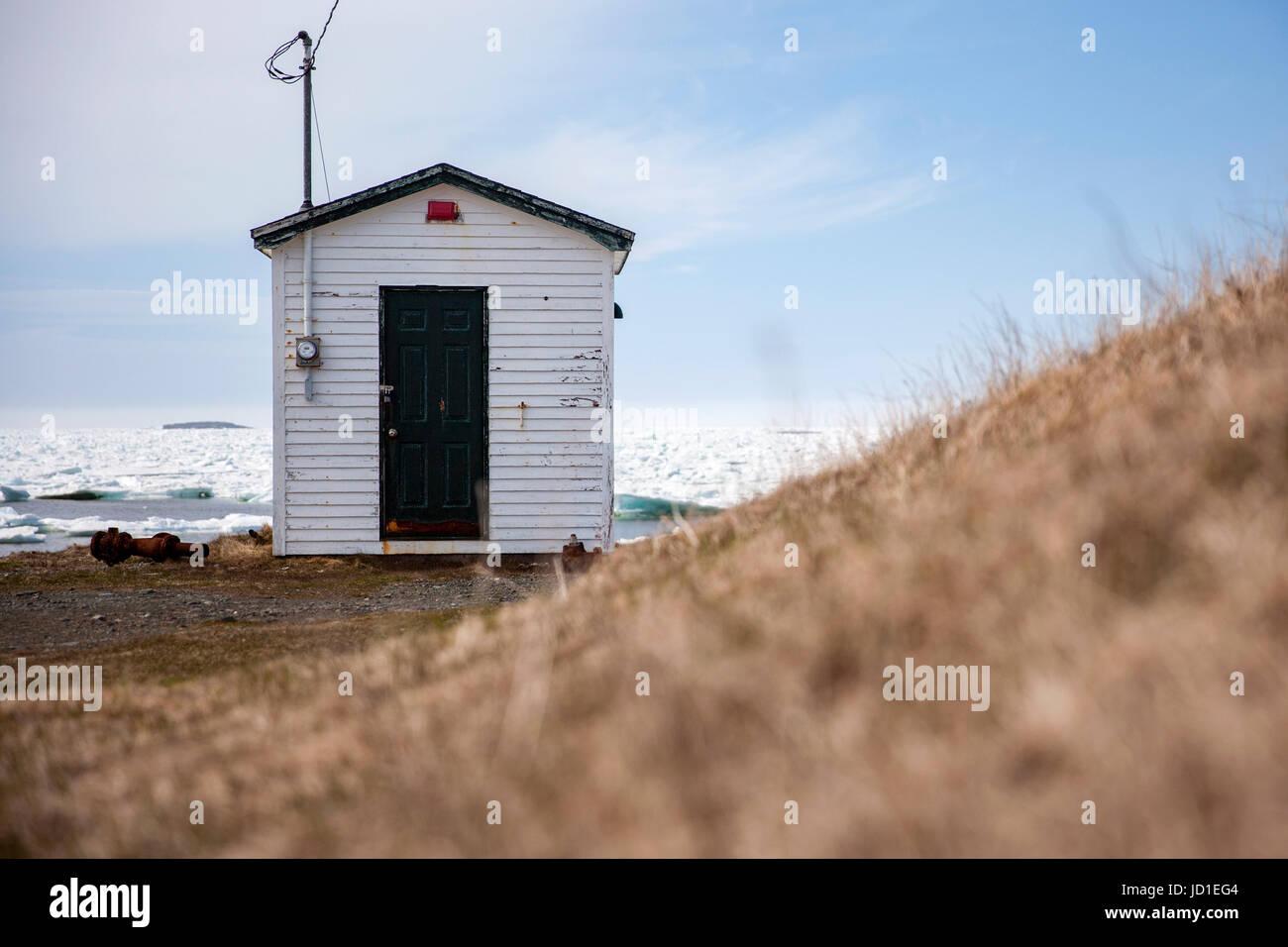 Fishing Stage - Cape Bonavista, Newfoundland, Canada - Stock Image