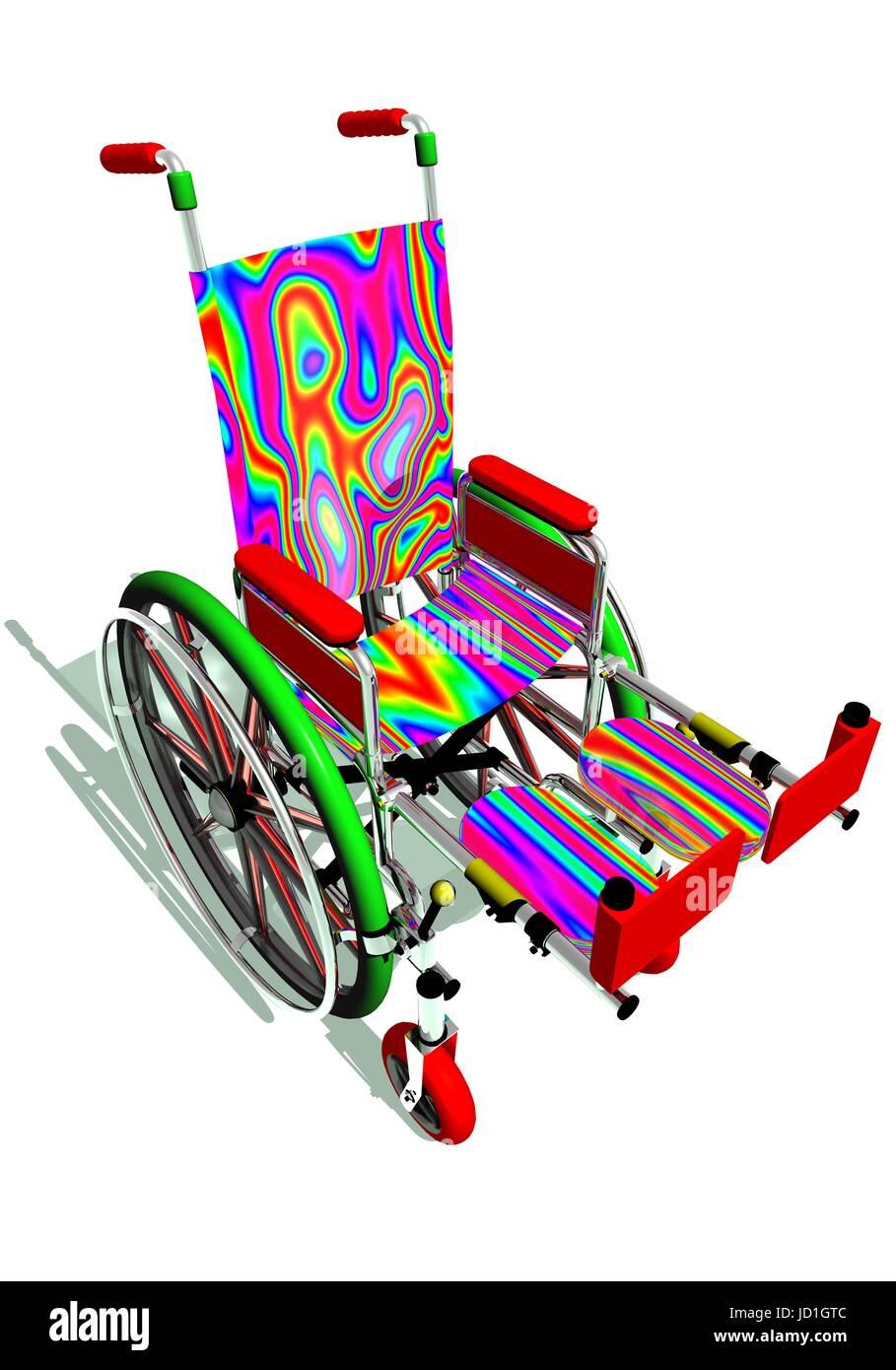 wheelchair, wheel, illustration, render, chair, disability, handicap ...