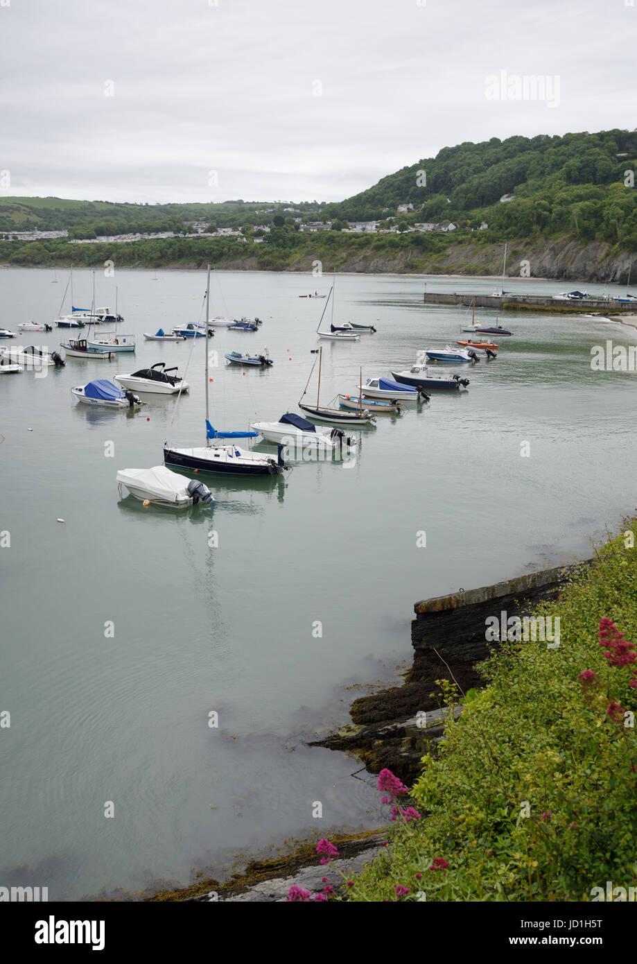 Boats at anchor - Stock Image