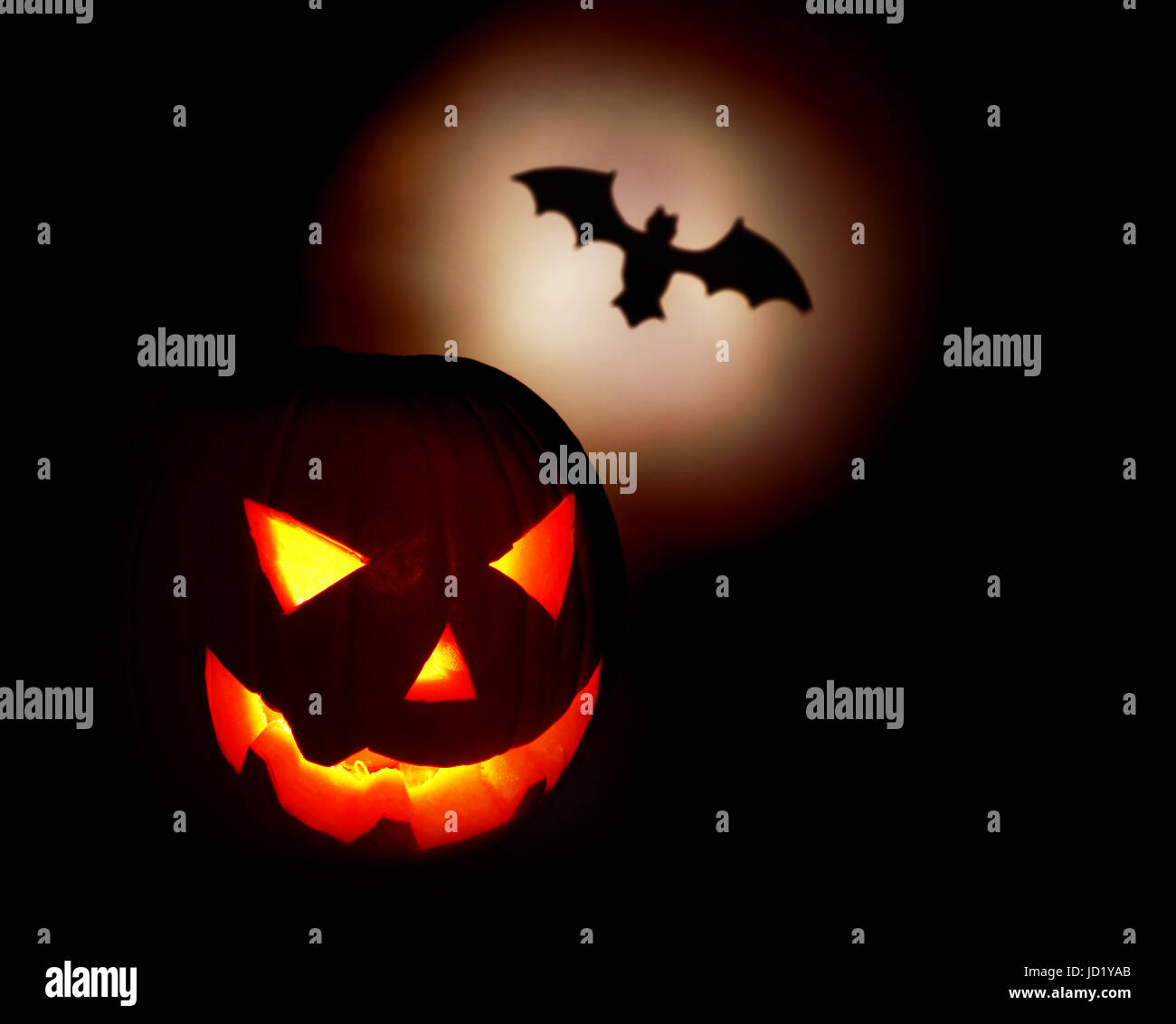 Halloween Glow Pumpkin Bat Pictogram Stock Photos Halloween Glow