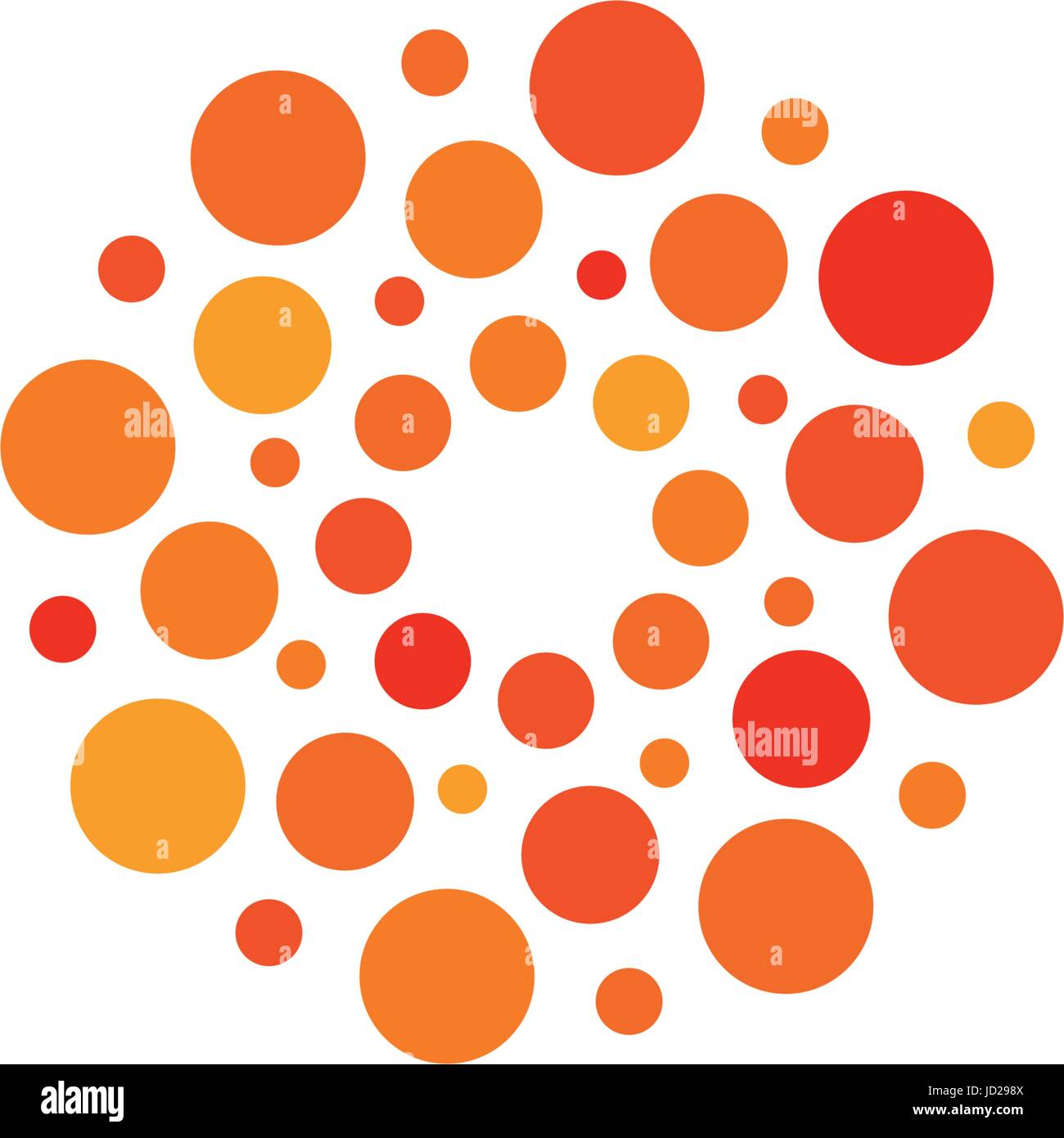 orange and white circle logo clipart library