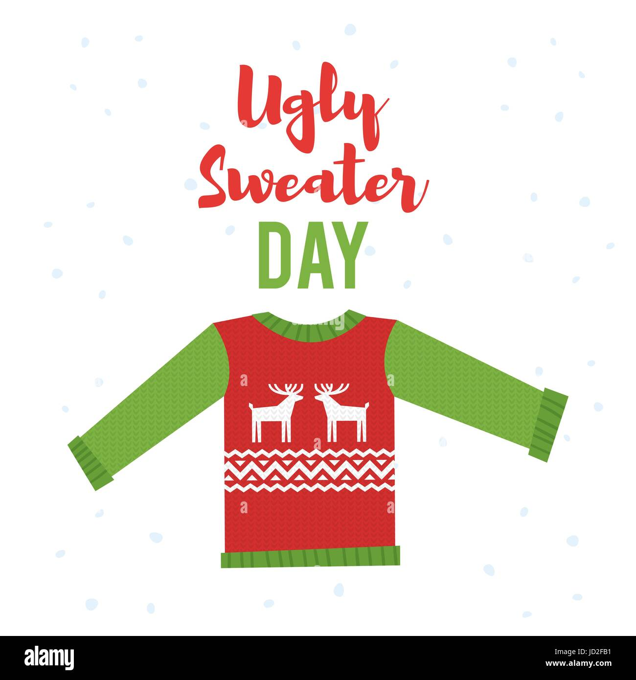 7a066b2bf Vector cartoon style illustration of ugly sweater. Icon for web. Isolated  on white background