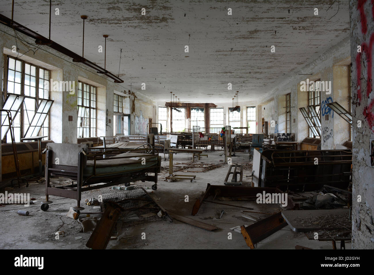 Room And Equipment In Abandoned Hospital