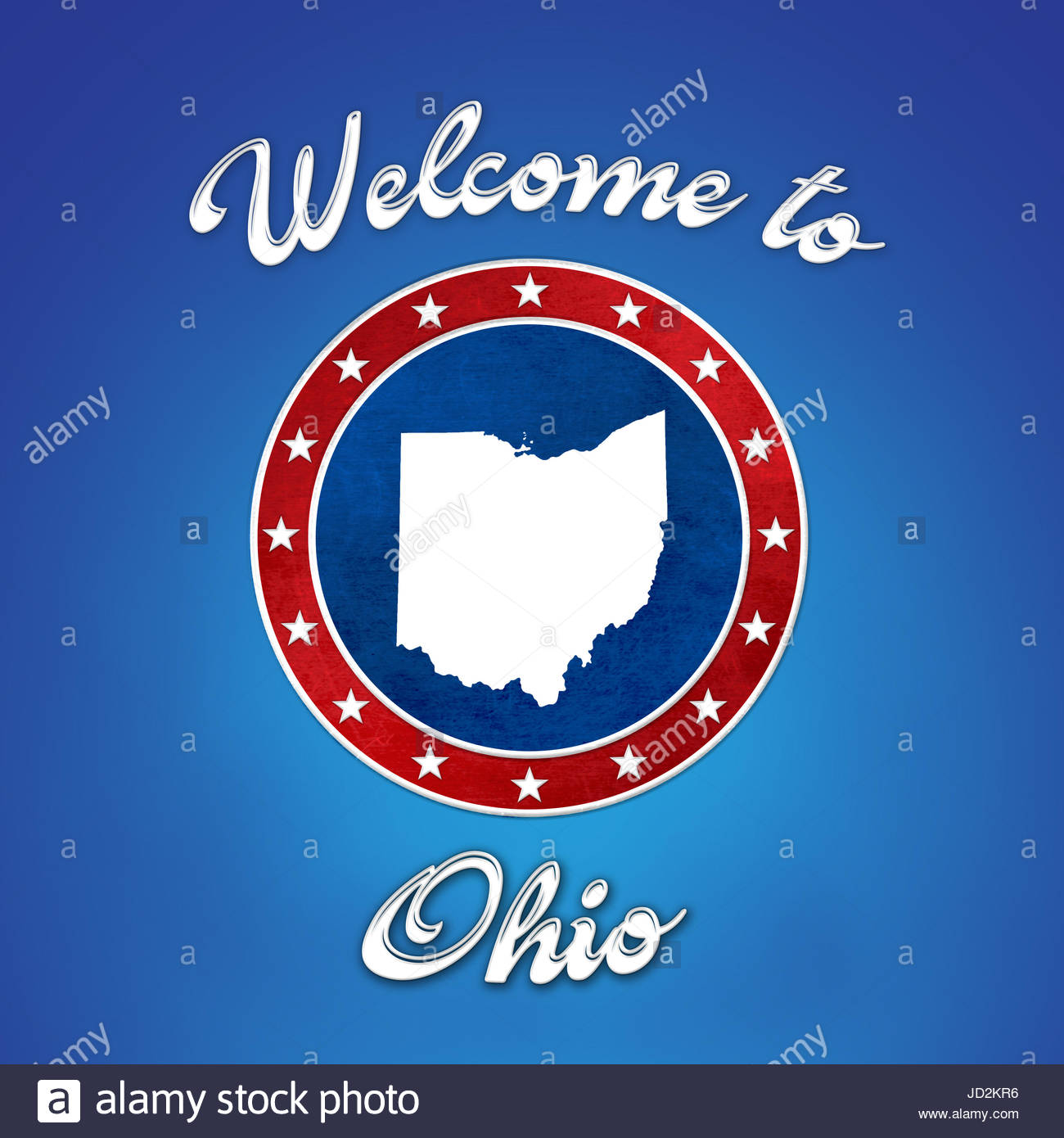 Welcome to Ohio - Stock Image